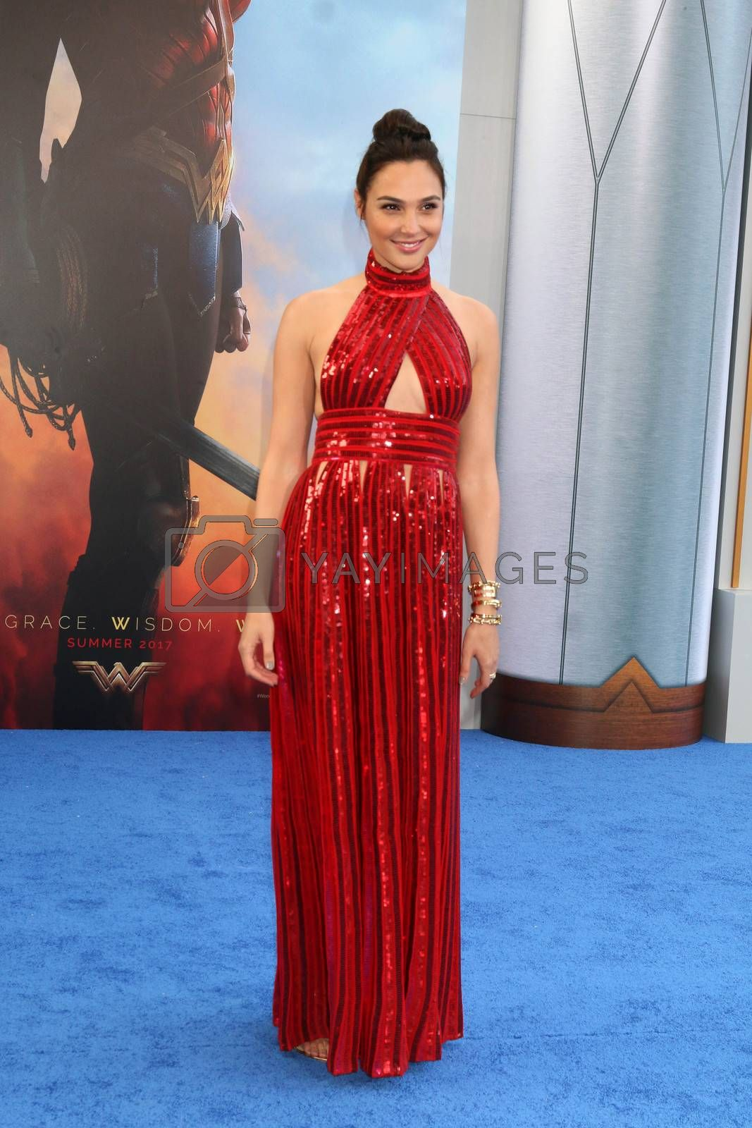 """Royalty free image of Gal Gadot at the """"Wonder Woman"""" Premiere, Pantages, Hollywood, CA 05-25-17/ImageCollect by ImageCollect"""