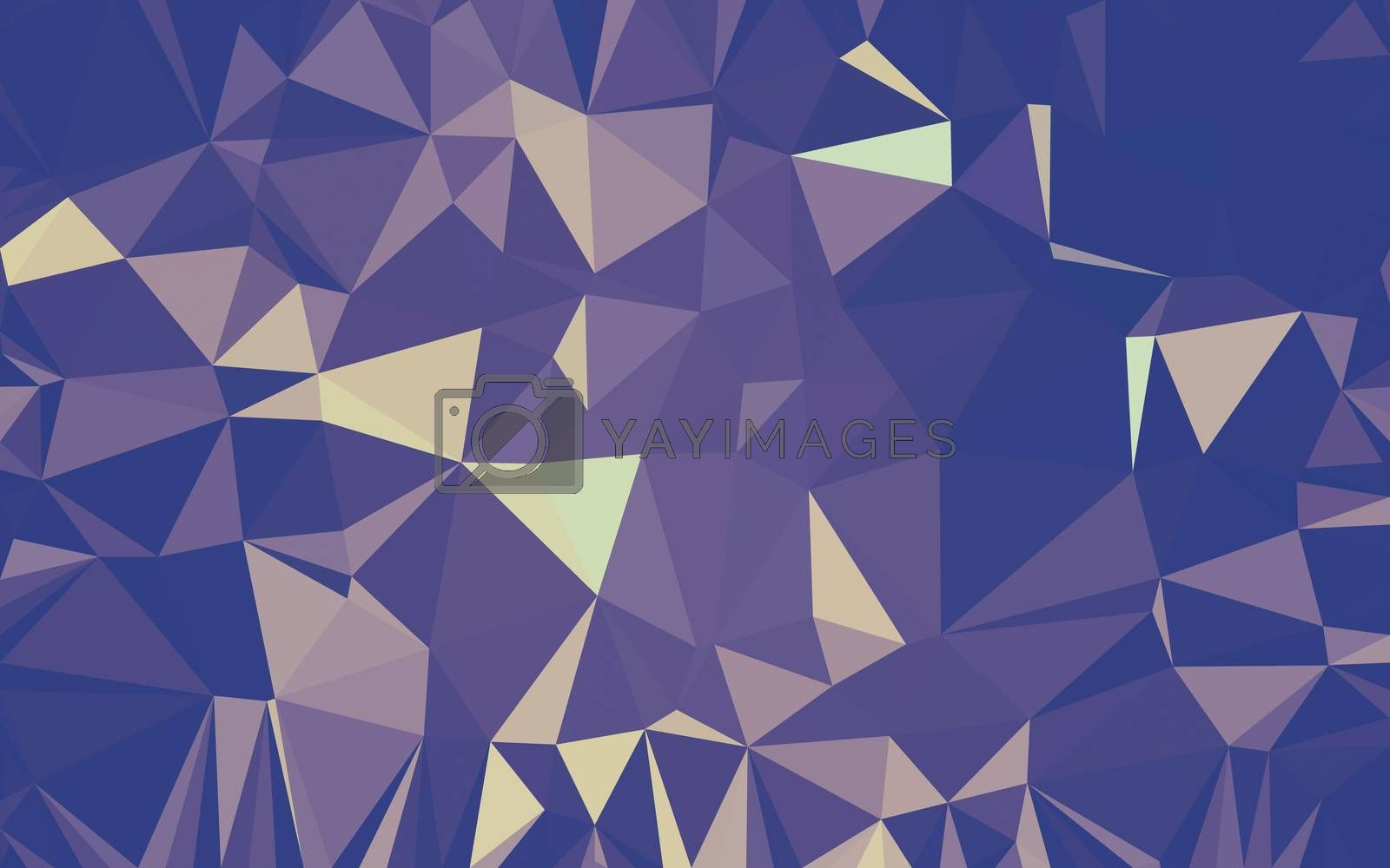 Abstract low poly background, geometry triangle by teerawit