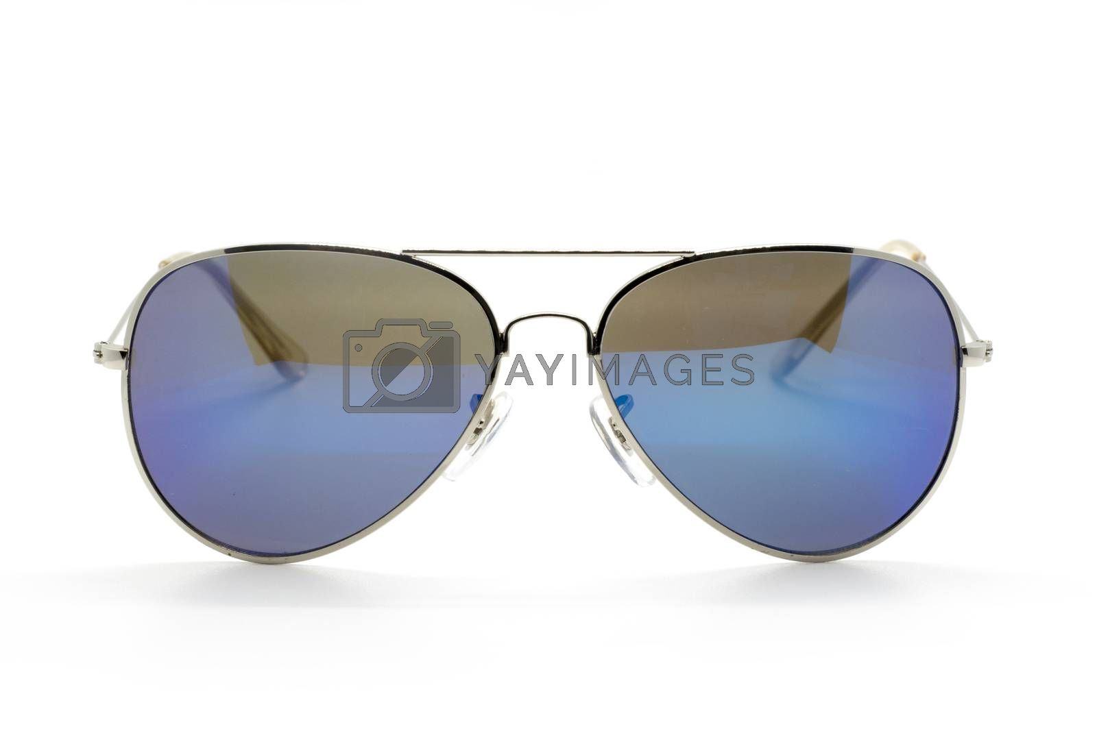 Modern fashionable sunglasses isolated on white background, Glasses