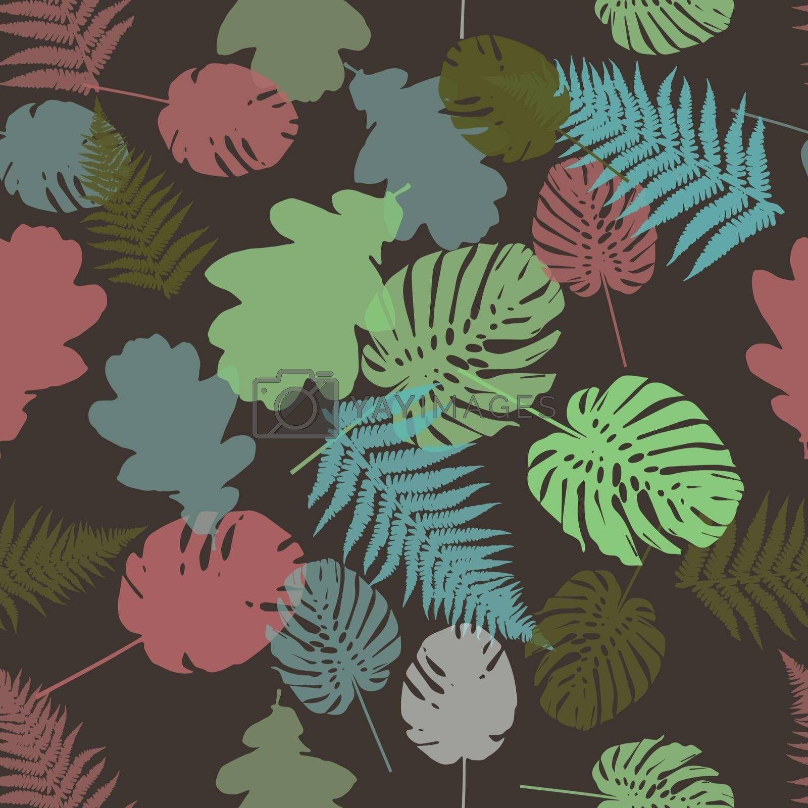 Cute Floral pattern in the small flower. Ditsy print . Motifs scattered random. Vector texture. Elegant template for fashion prints. Printing with small colorful flowers. Brown background.