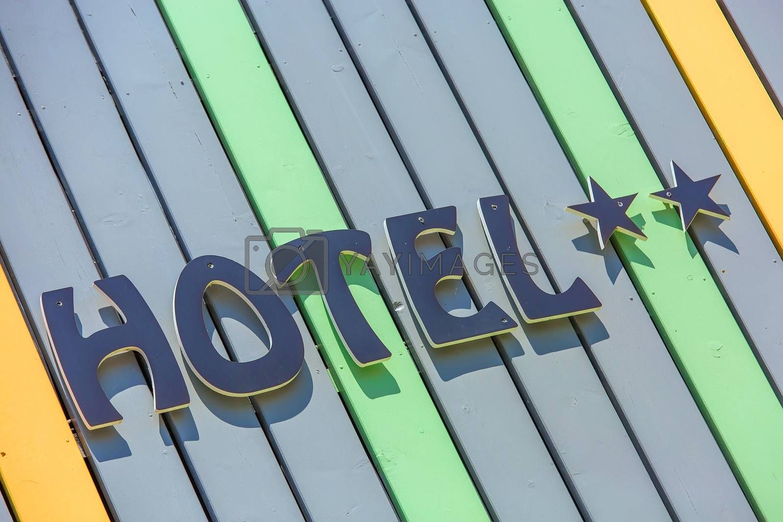 Royalty free image of Design coloreful hotel sign by pixinoo