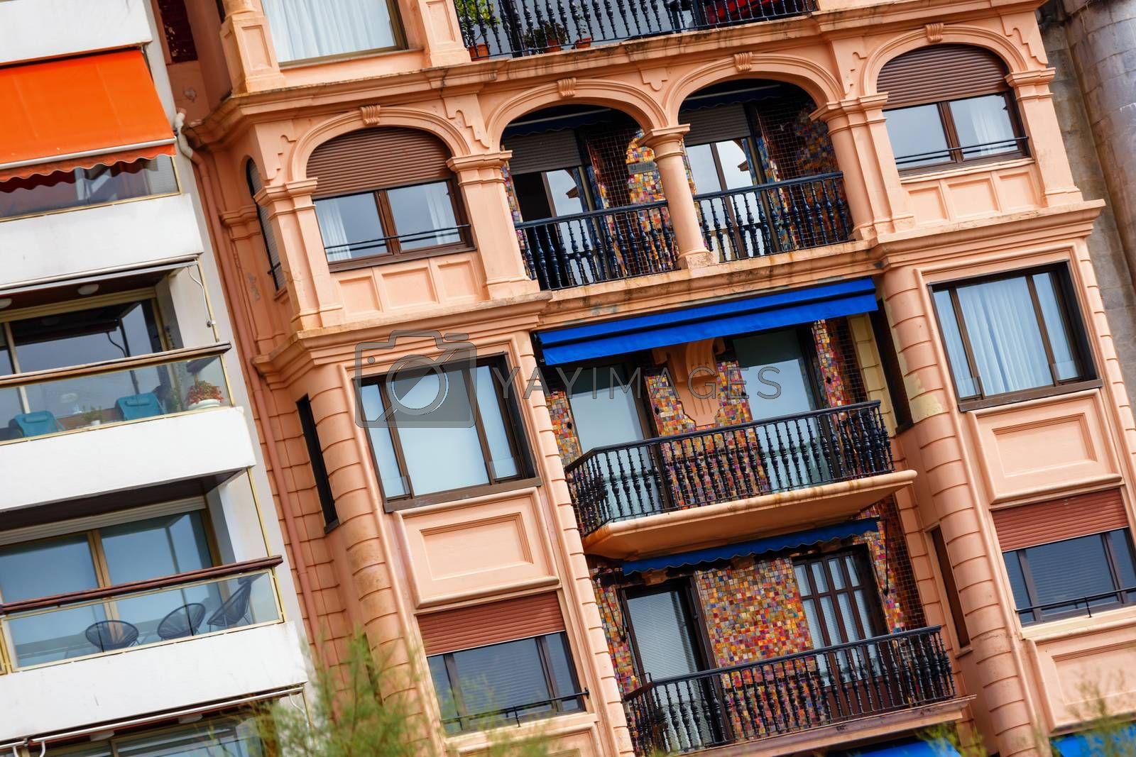Royalty free image of colorful town buildings spain by pixinoo