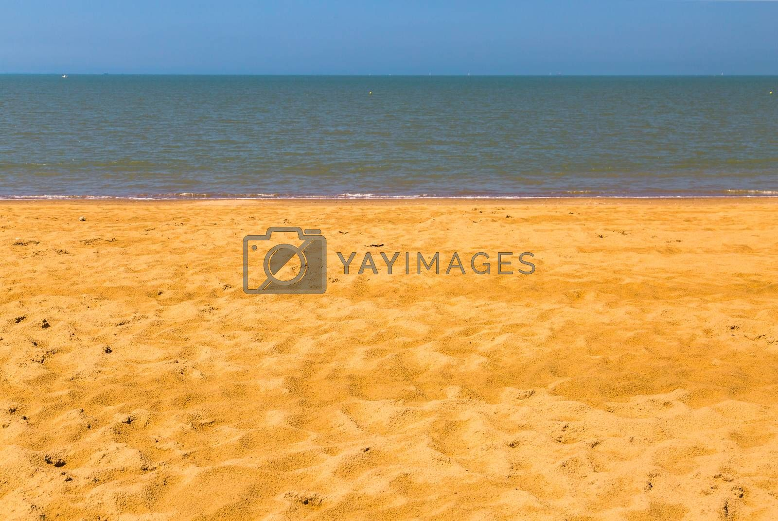 Royalty free image of Nature background, clear water and blue cloudy sky. by pixinoo