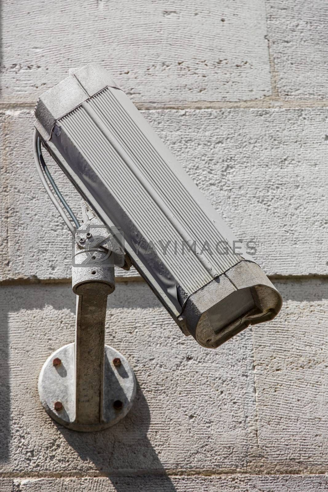 Royalty free image of Security CCTV camera under blue sky by pixinoo