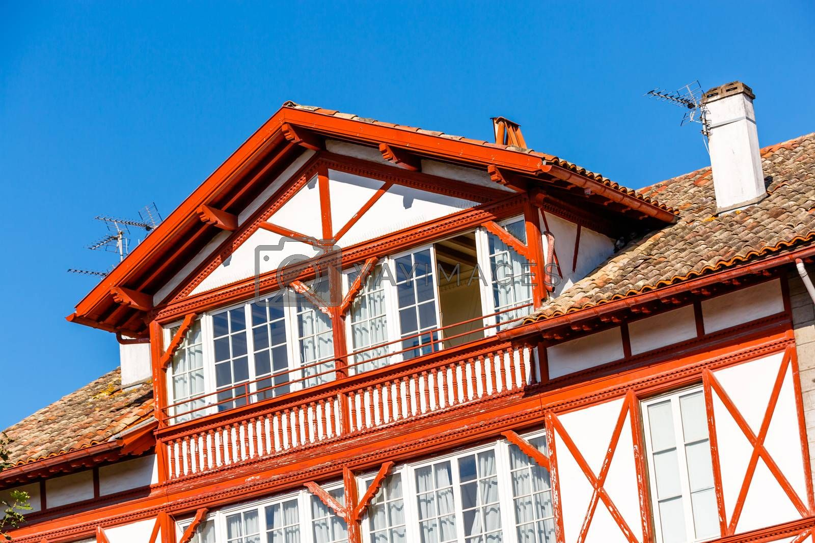 Royalty free image of Typical Basque house in Basque Country, France by pixinoo
