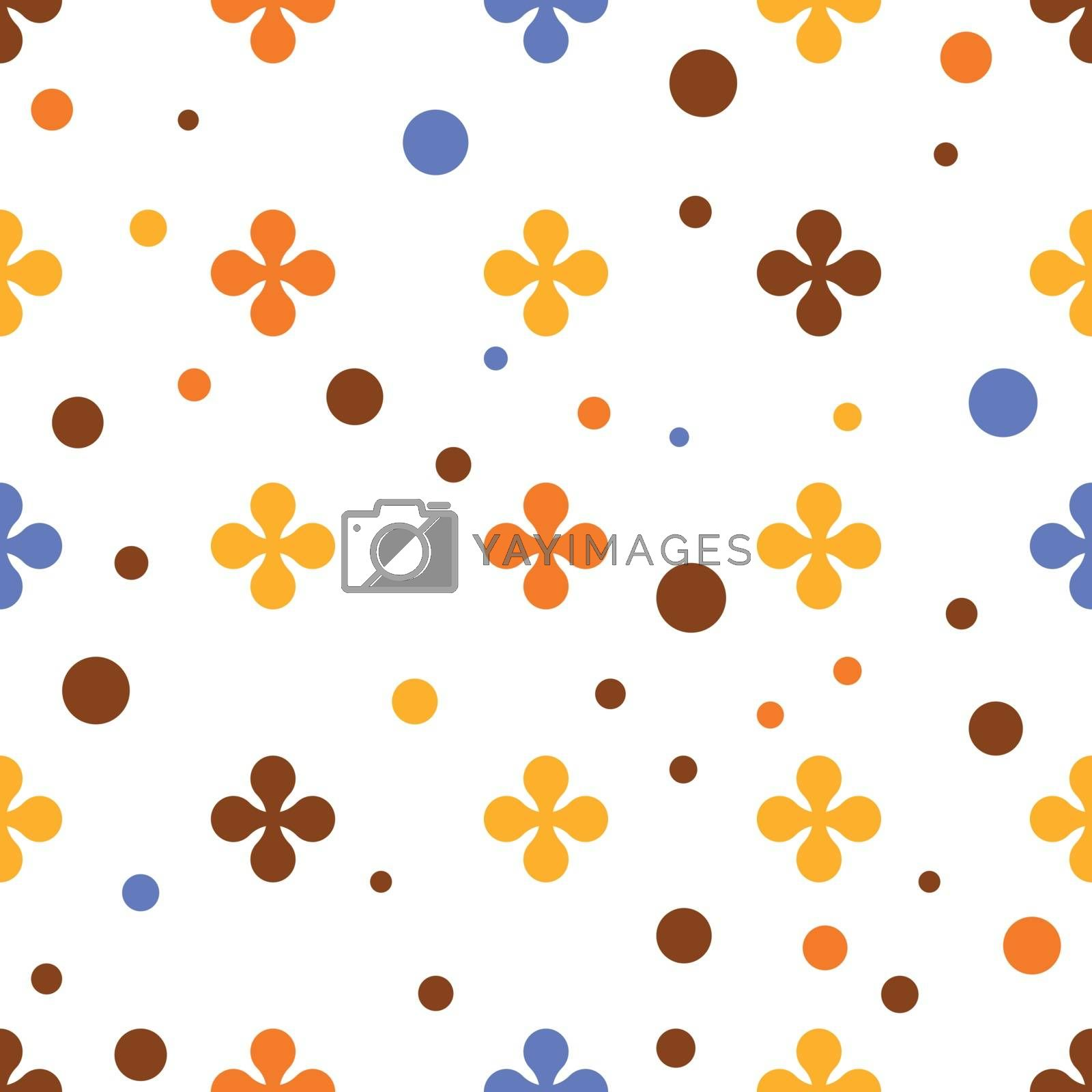 Abstract colourful vector background with flowers in pattern