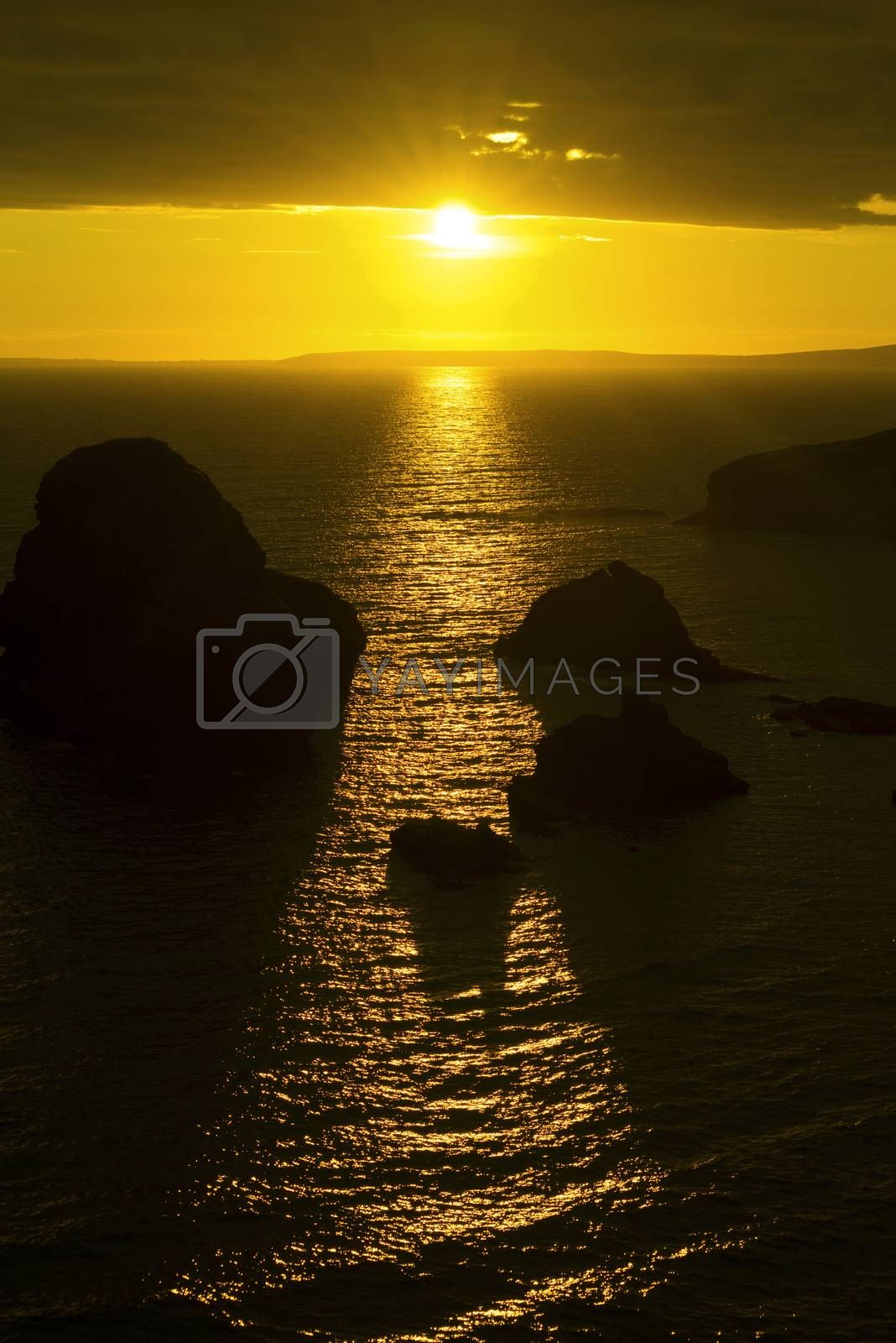wild atlantic way sunset on the coastline of ballybunion county kerry ireland