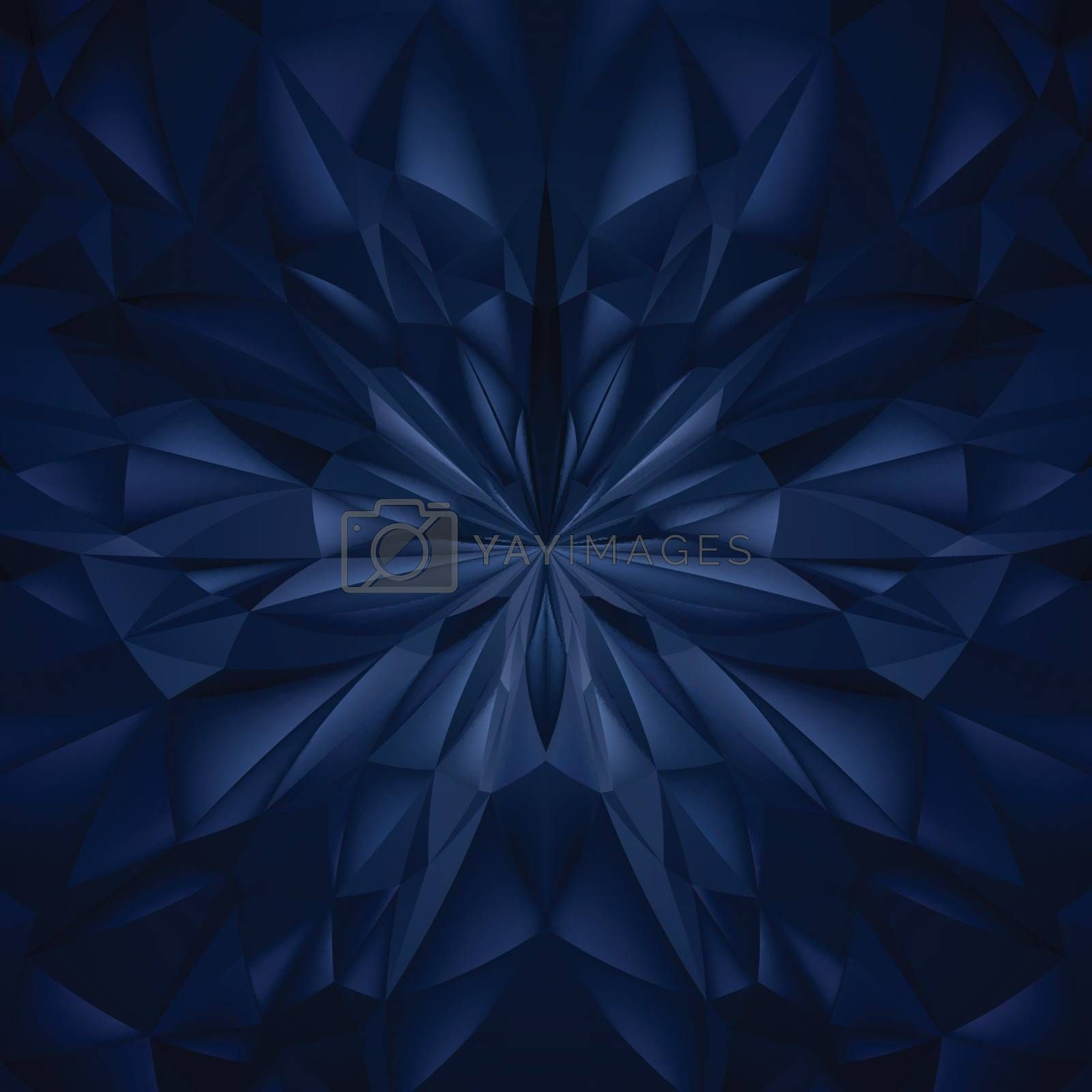 Abstract Blue Composition. Magic Explosion Star with Particles