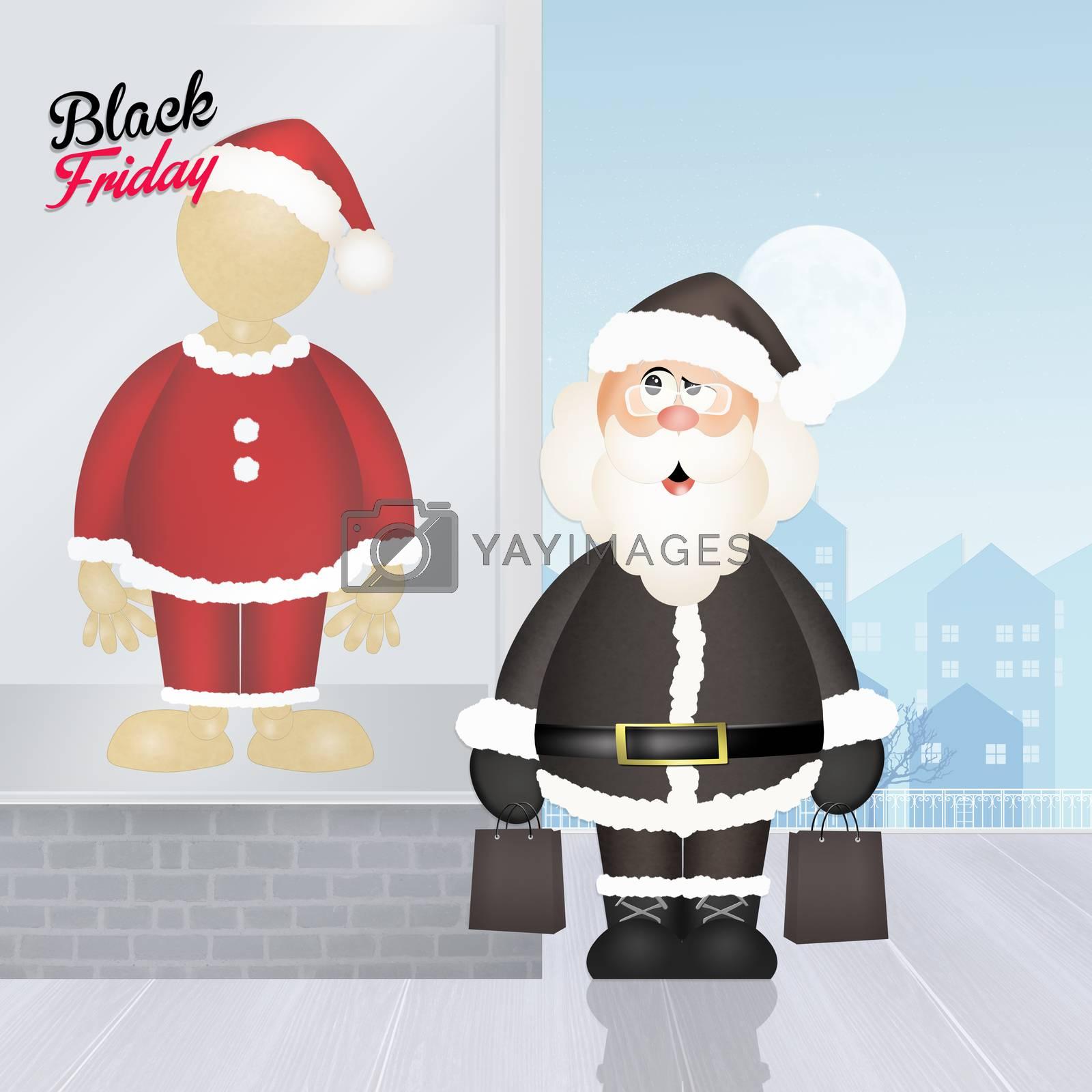 illustration of Black friday Christmas