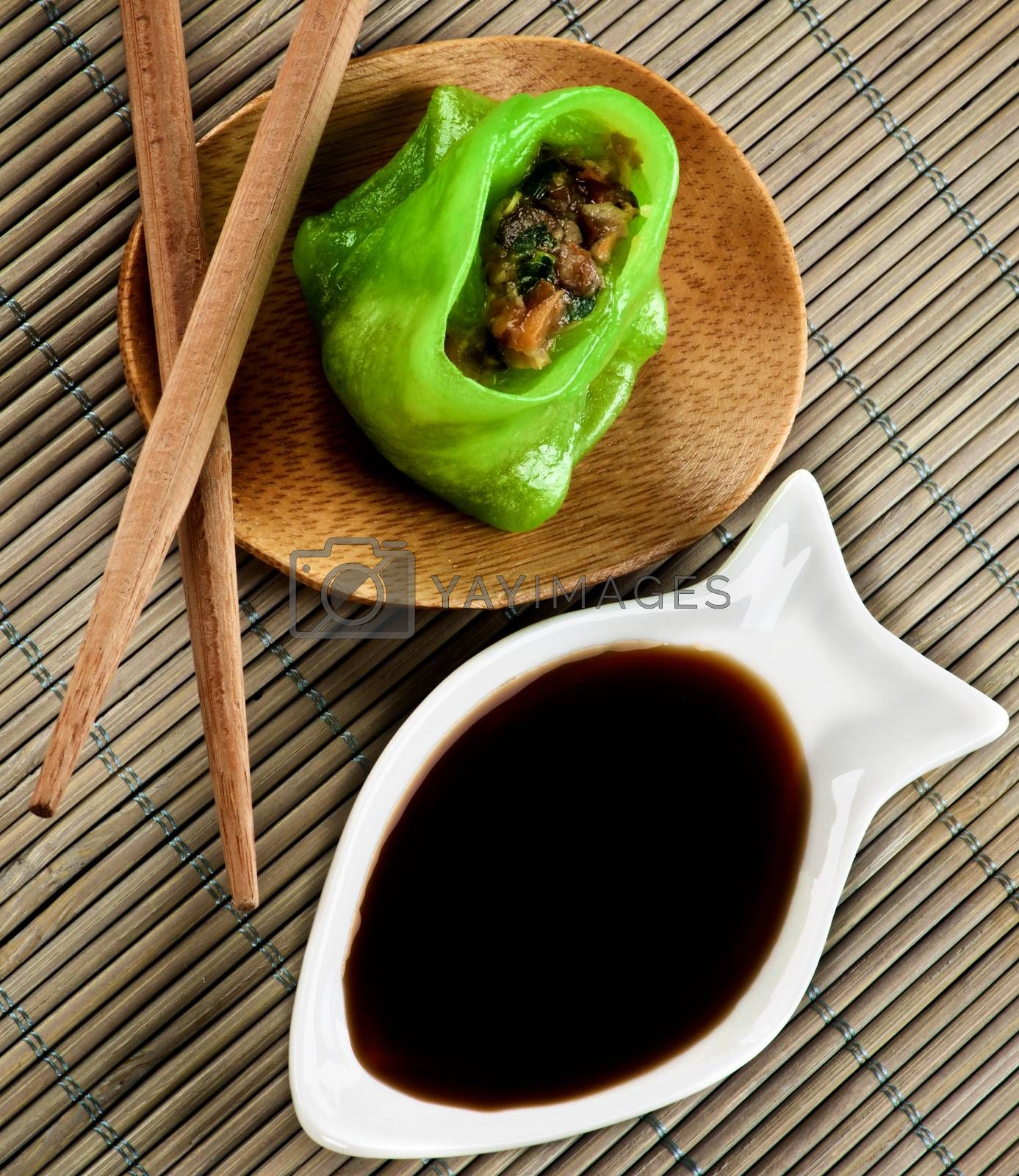 Royalty free image of Vegetarian Yasai Dim Sum by zhekos