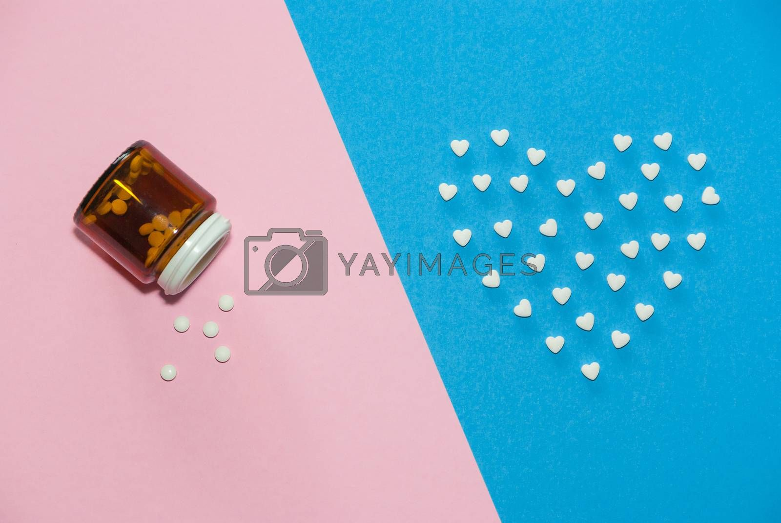 The figures of pills on the background by AEK