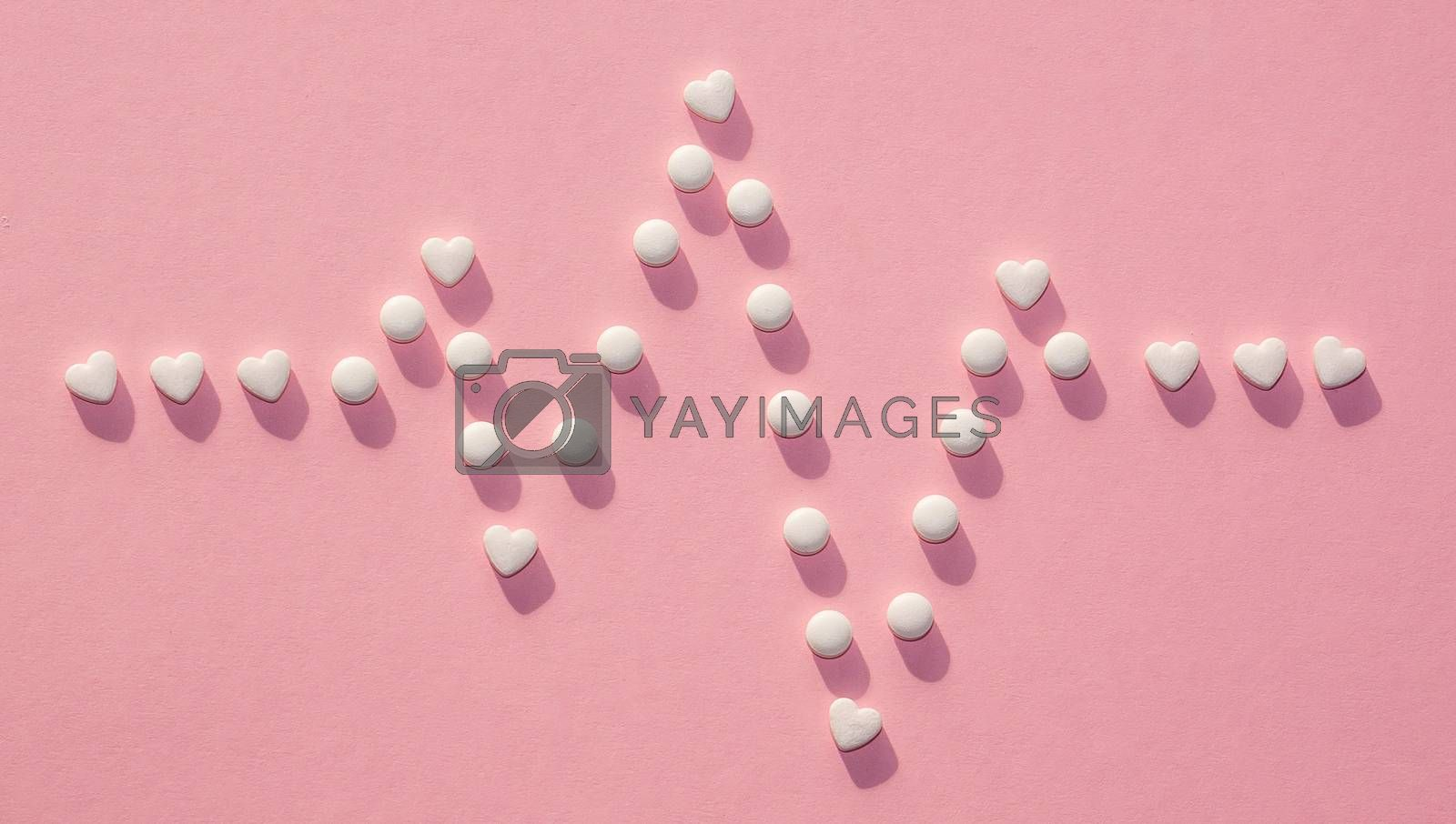 A lot of pills on the background, stethoscope and boxes