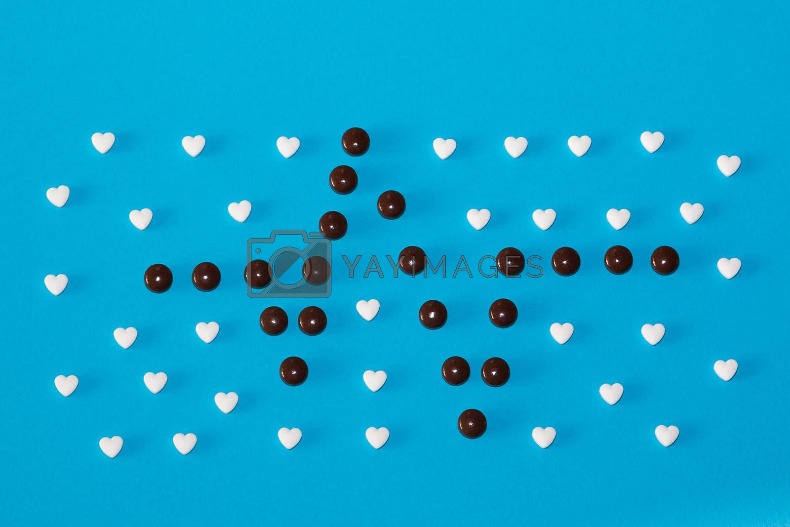 Royalty free image of The figures of pills on the background by AEK