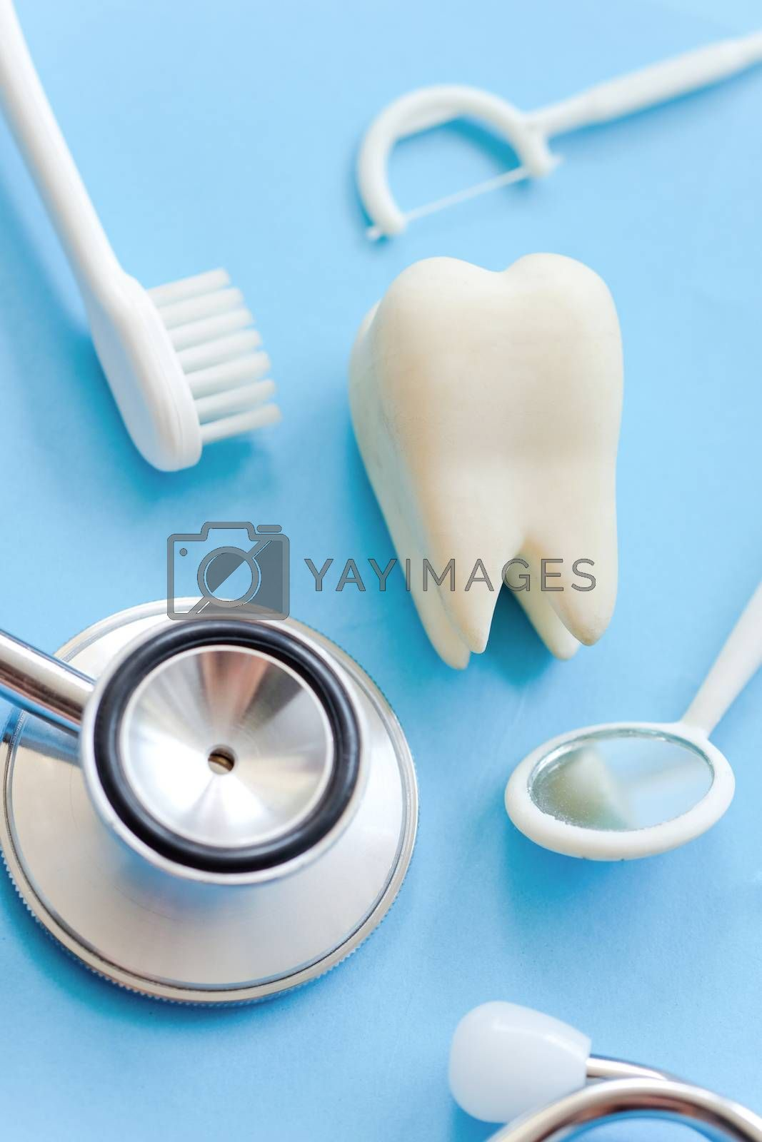 concept image of dental background