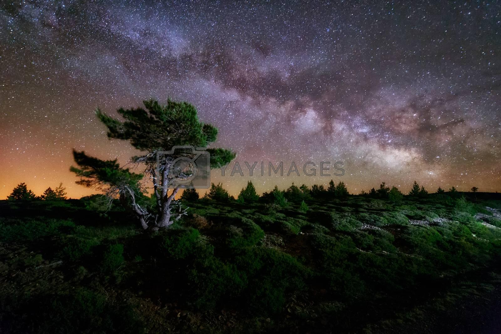 Milky way in Sierra de la Demanda