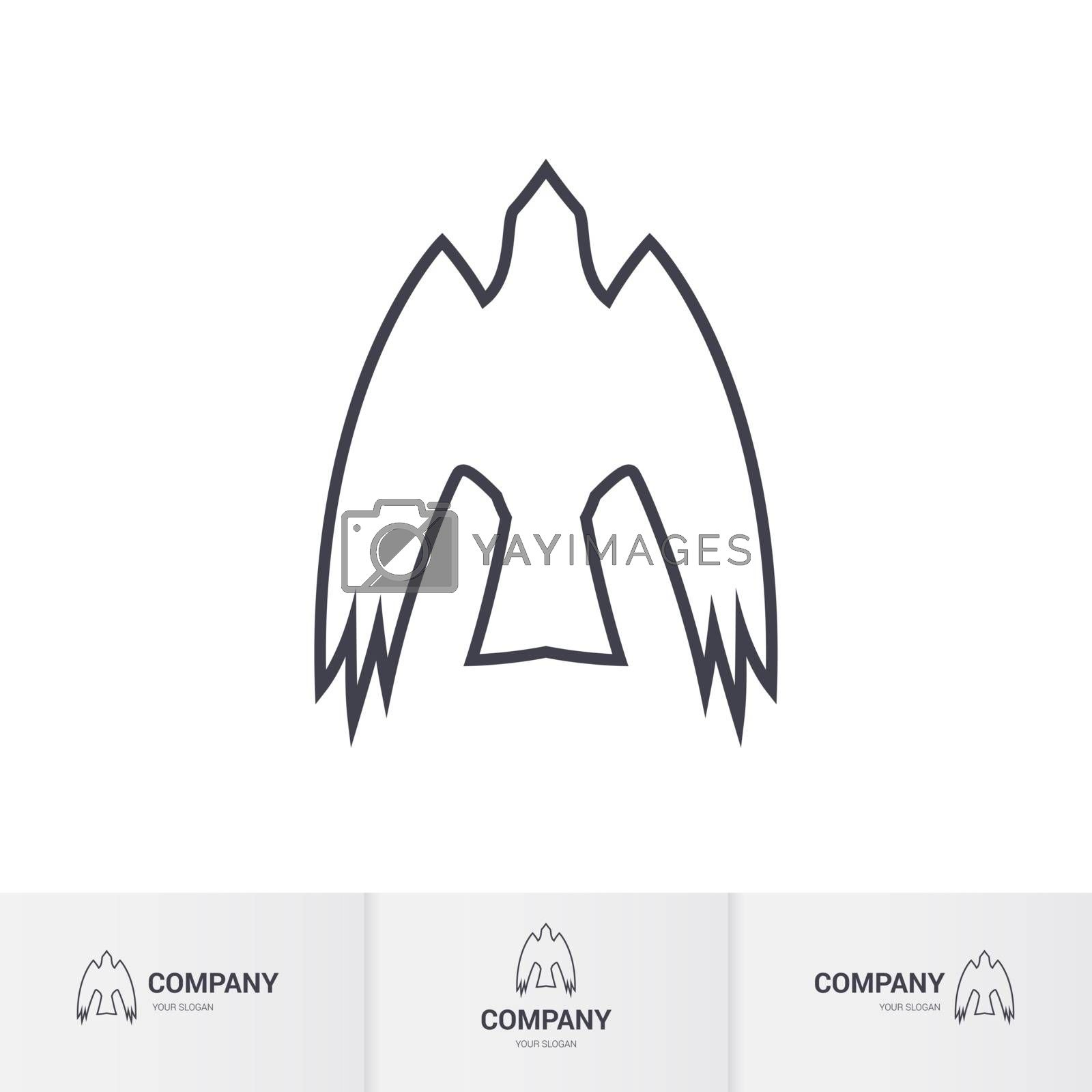 Simple Bird of Prey for Mascot Logo Template on White Background