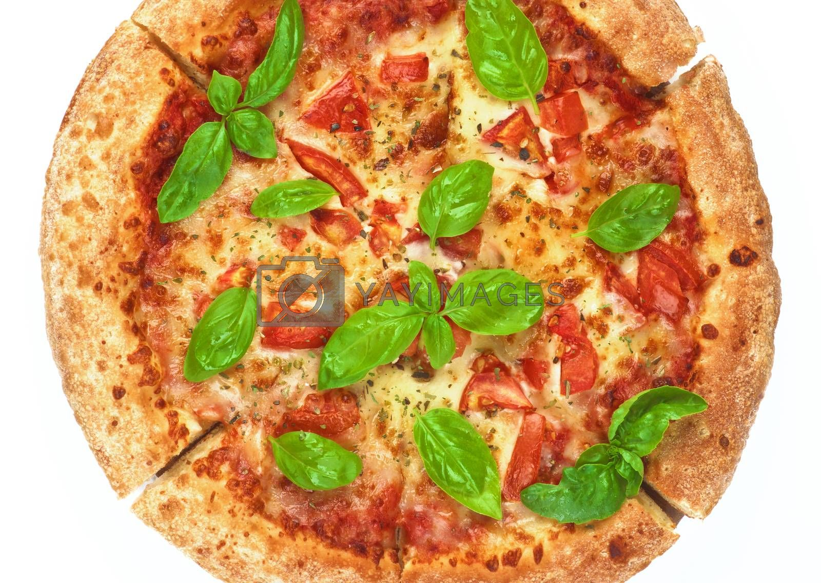 Royalty free image of Homemade Margherita Pizza by zhekos