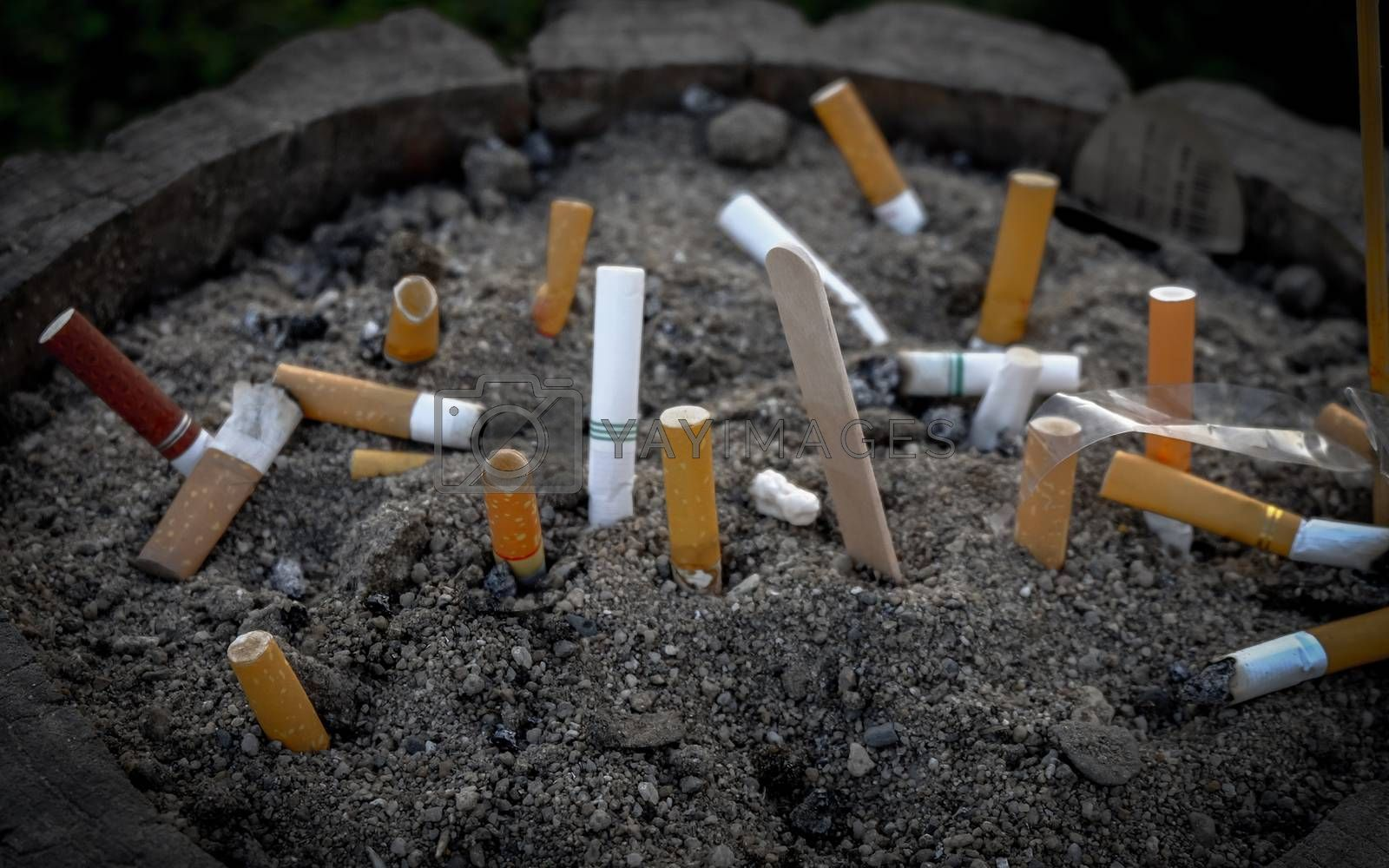 cigarette cancer food for background