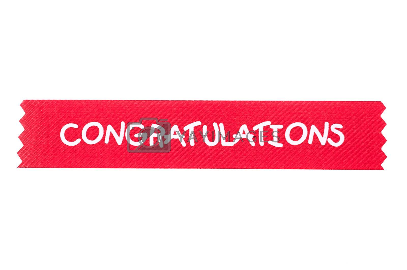 congratulation ribbon for background by gukgui