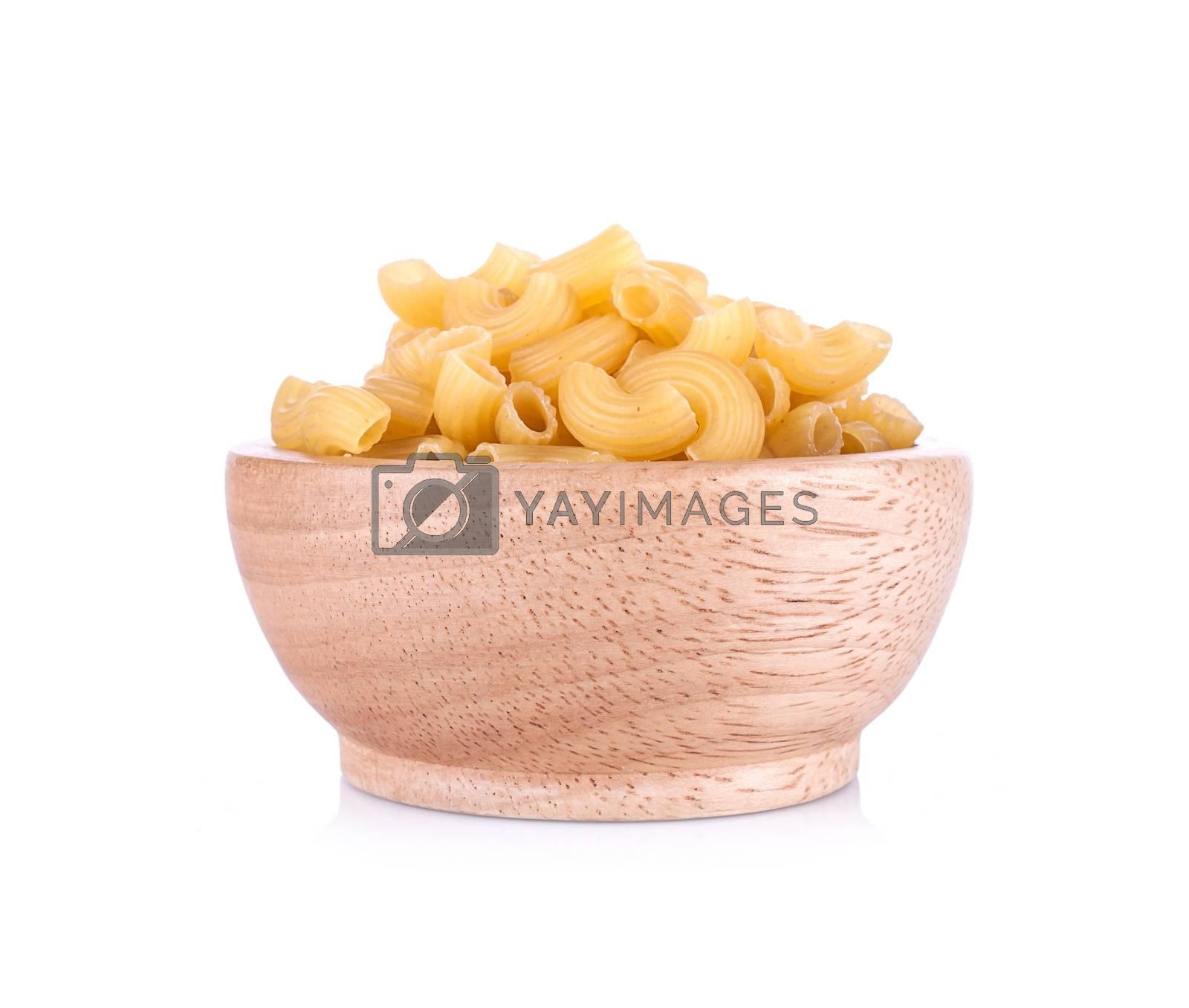 Italian food close up isolated on white background
