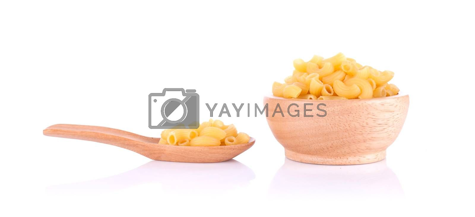 Italian food close up isolated on white background