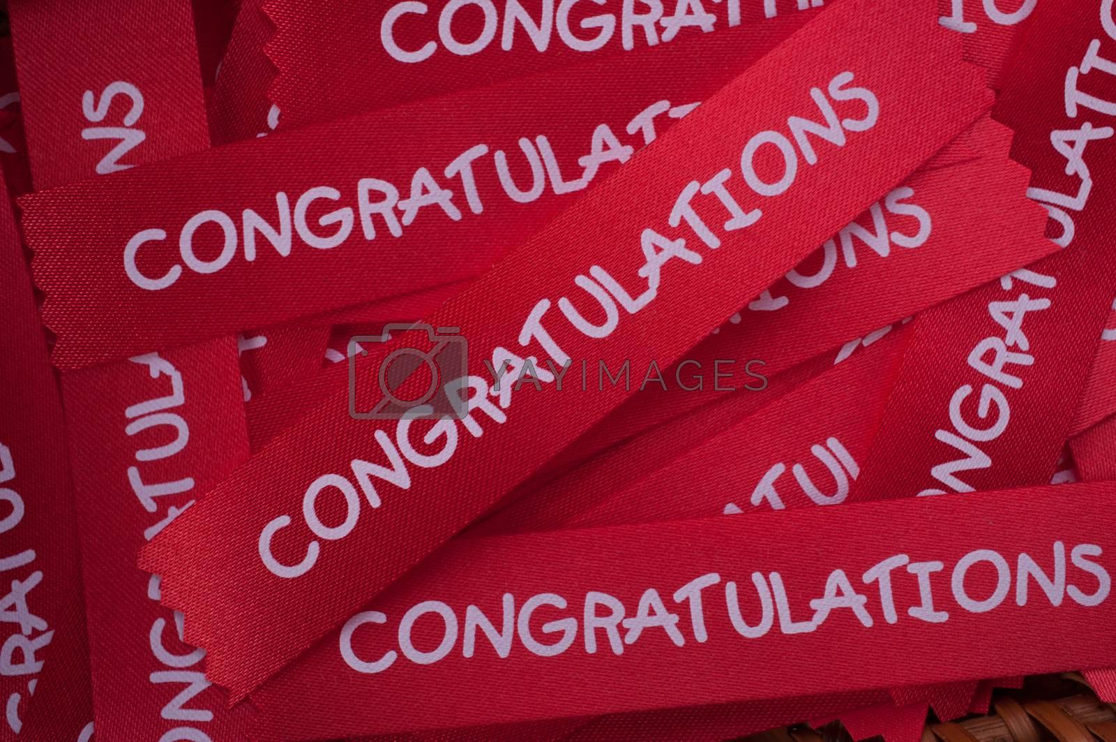 congratulation ribon for background by gukgui