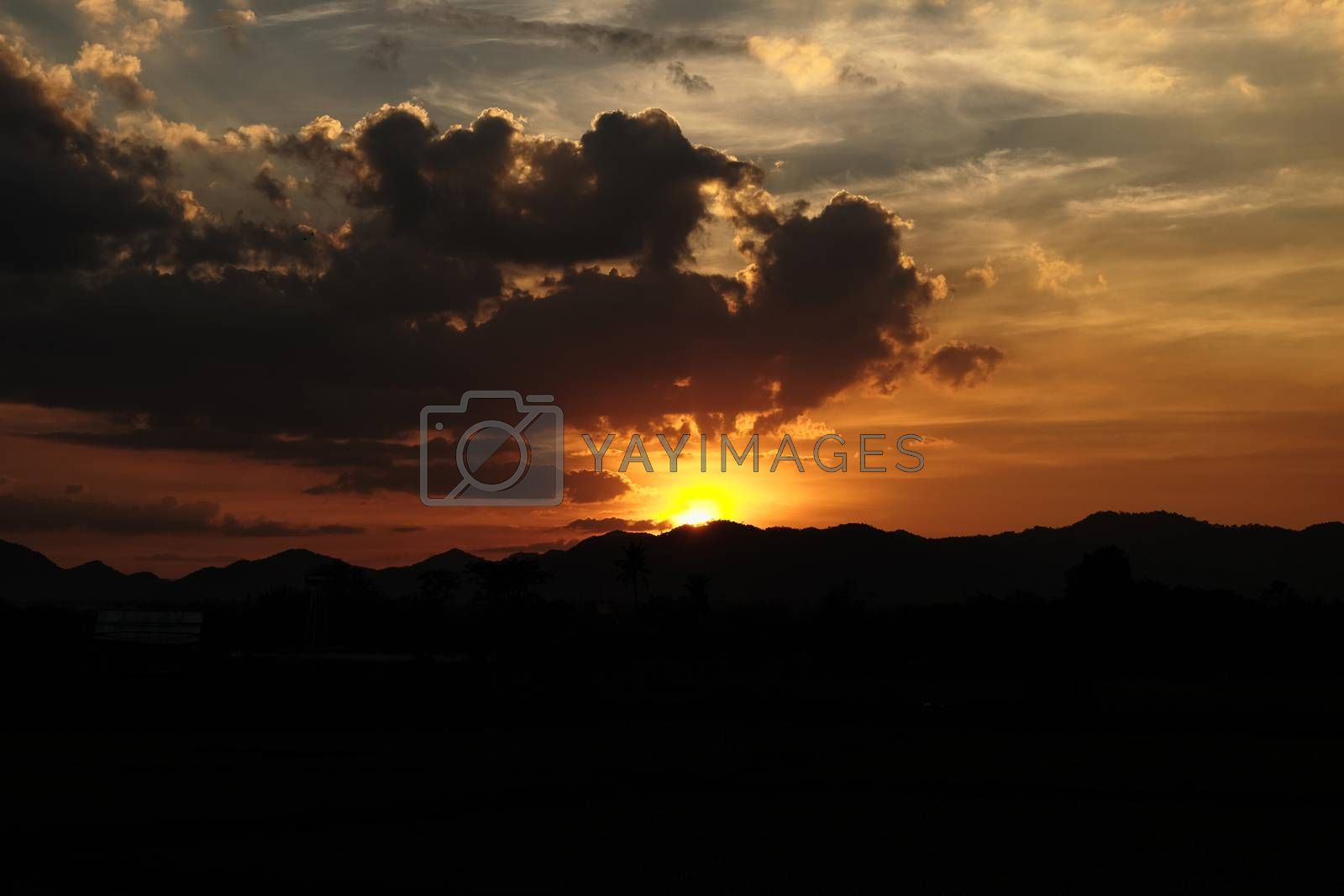 sky clouds sunset and sunlight background