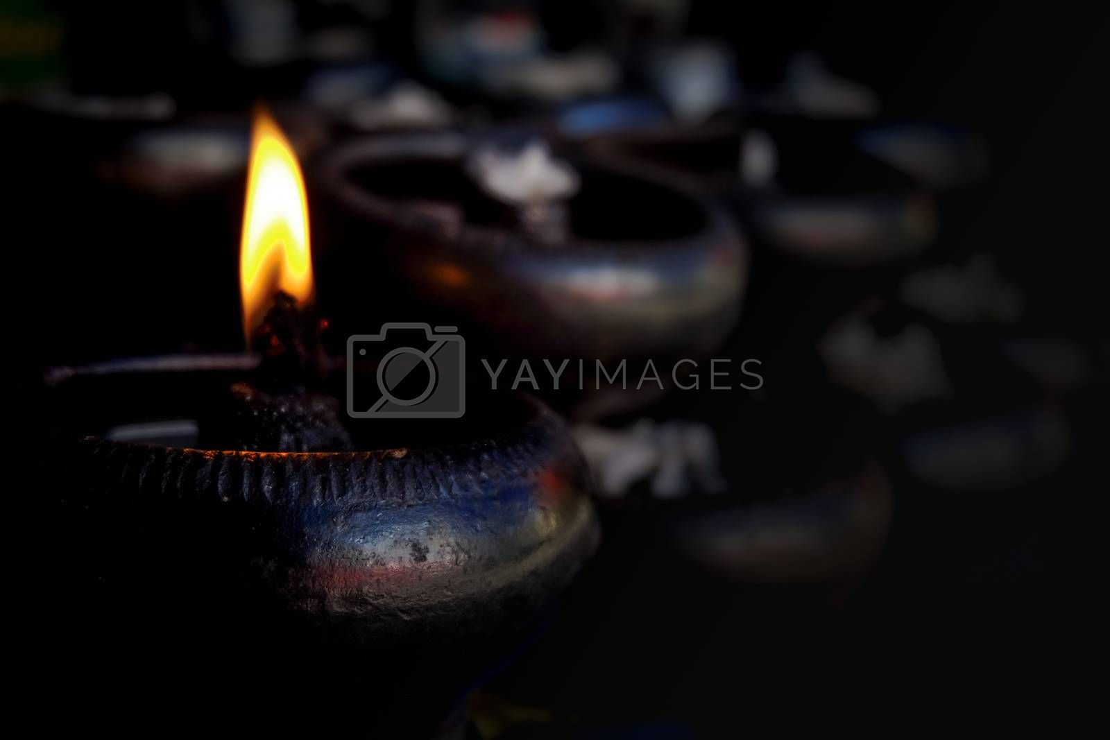 Candle light in thailand culture on background