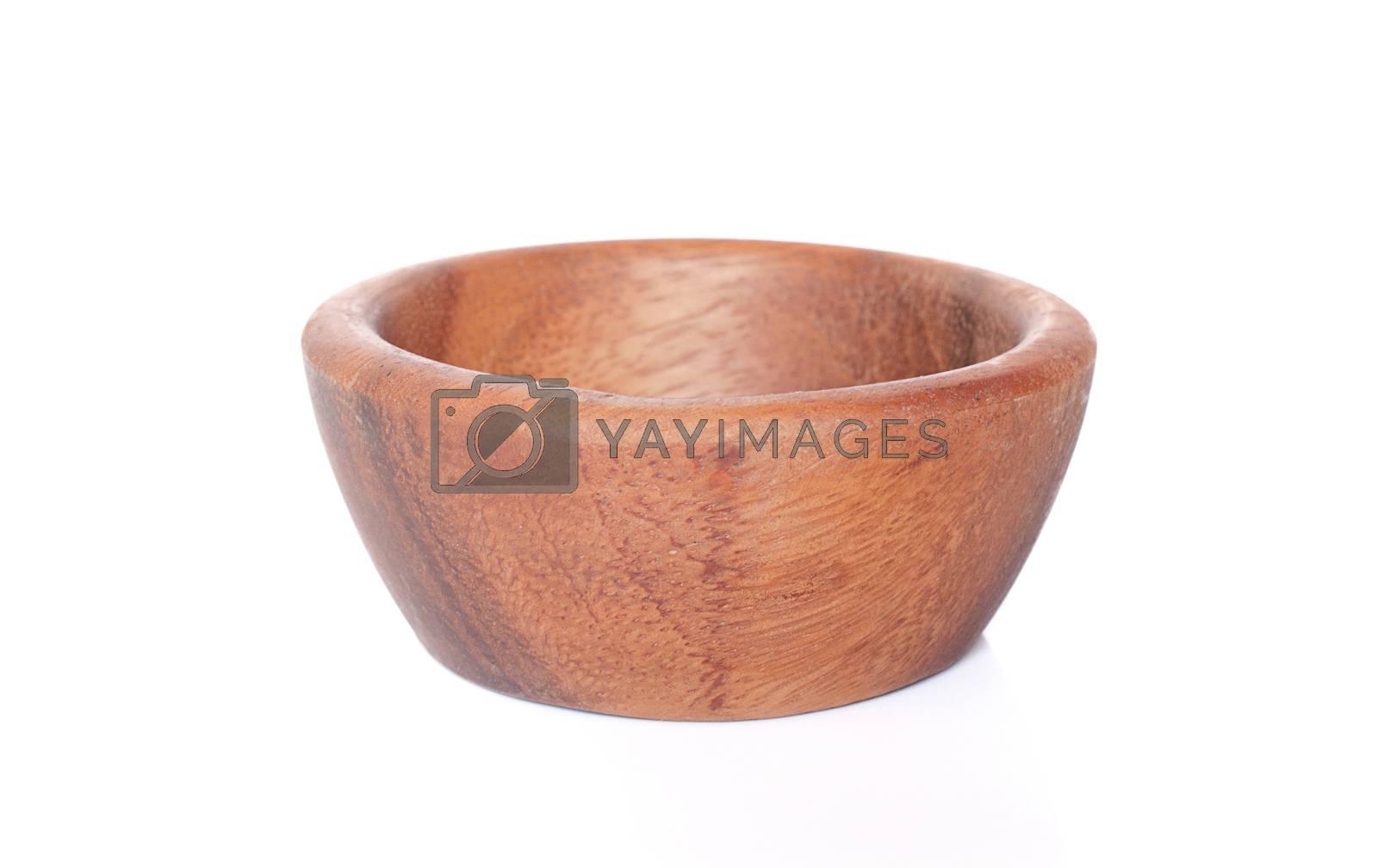 wood bowl isolated on white