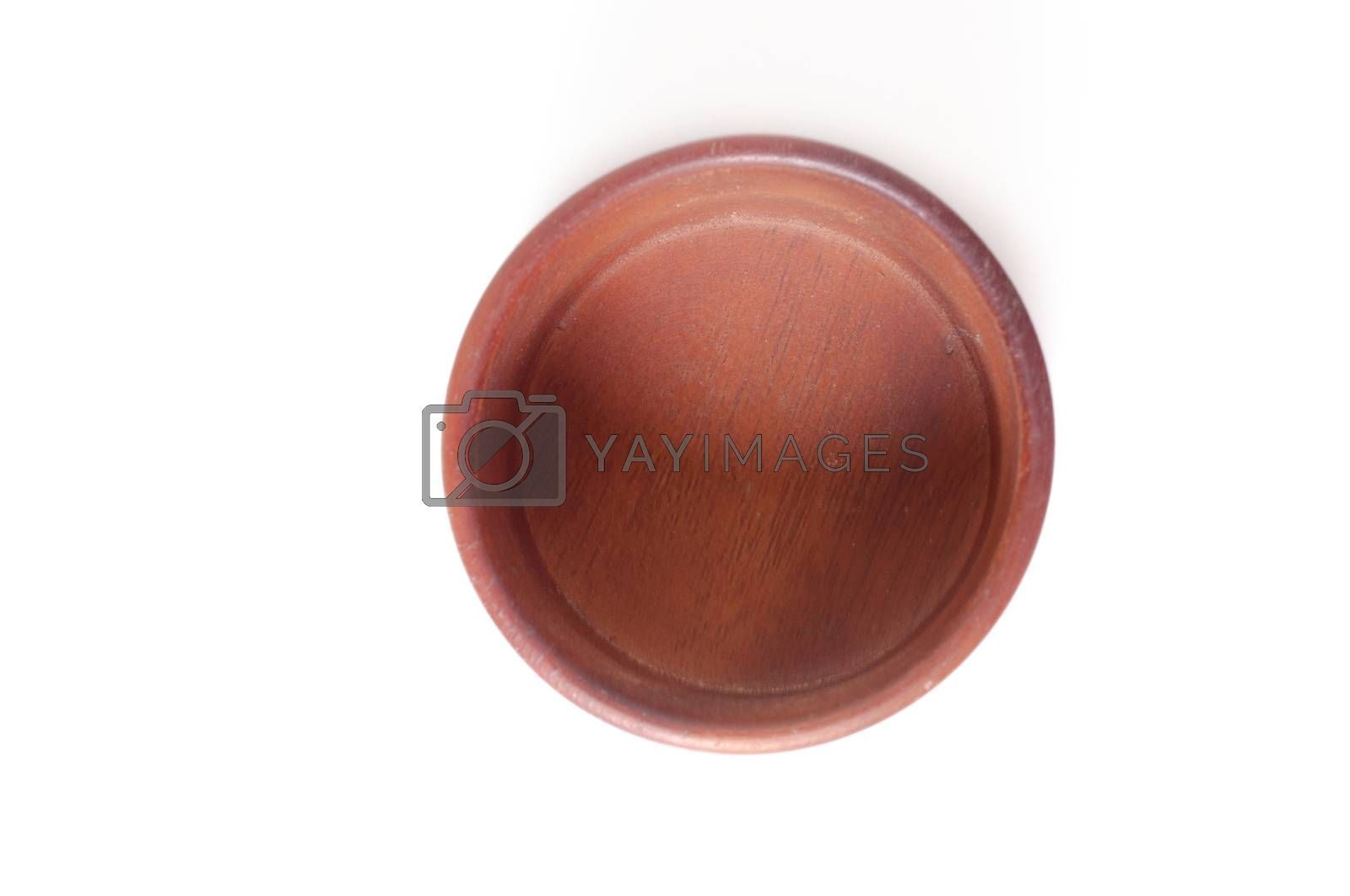 wood bowl isolated on white