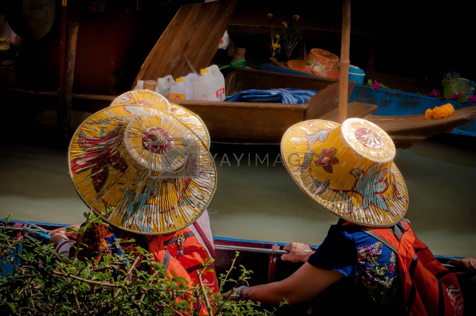 hat thai design  background