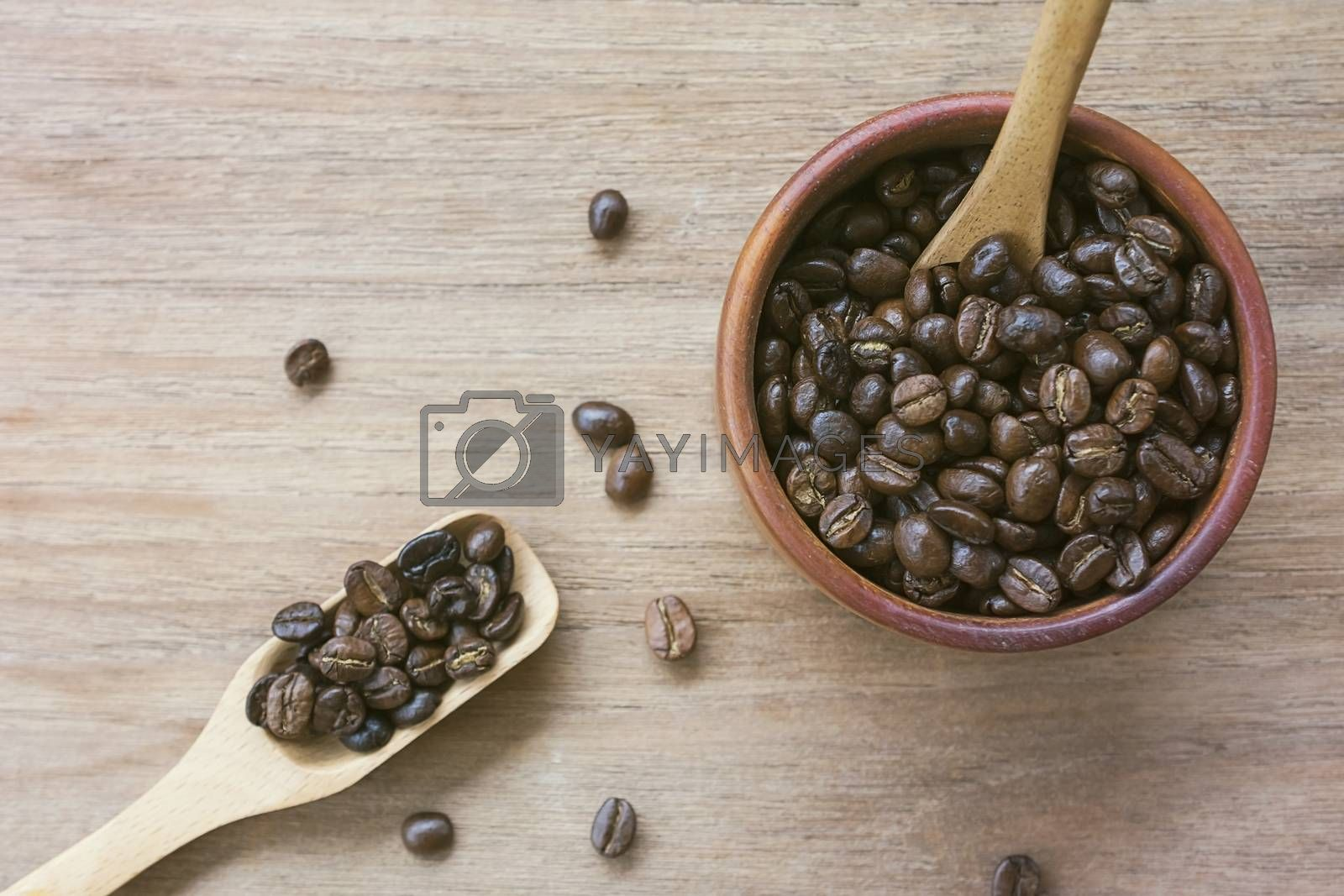 coffee beans close up on background