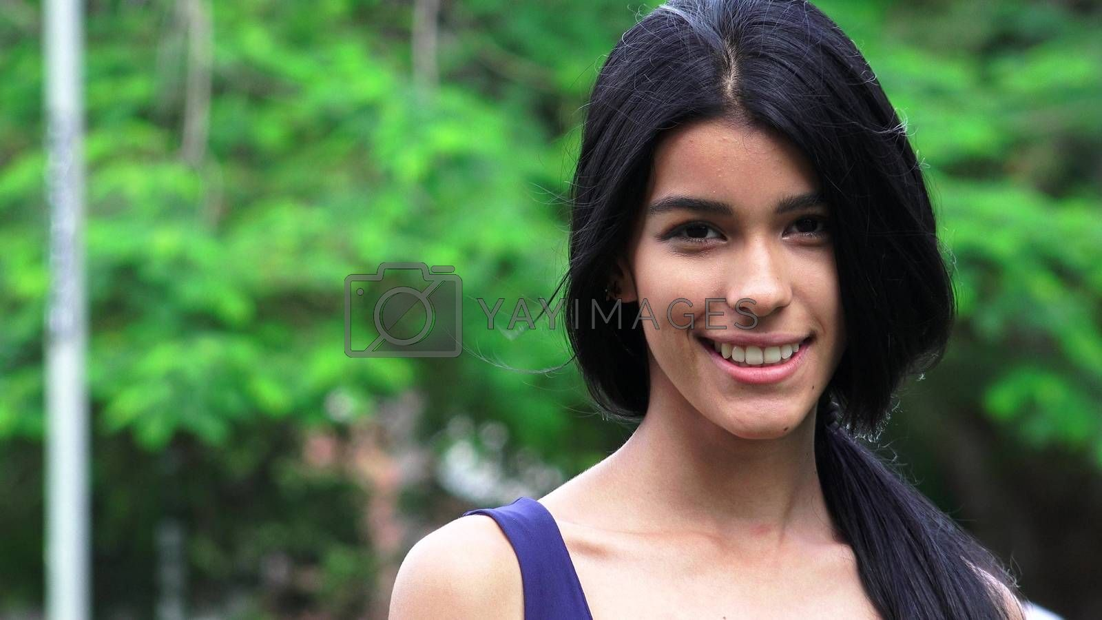 Colombian Female Teen And Happiness
