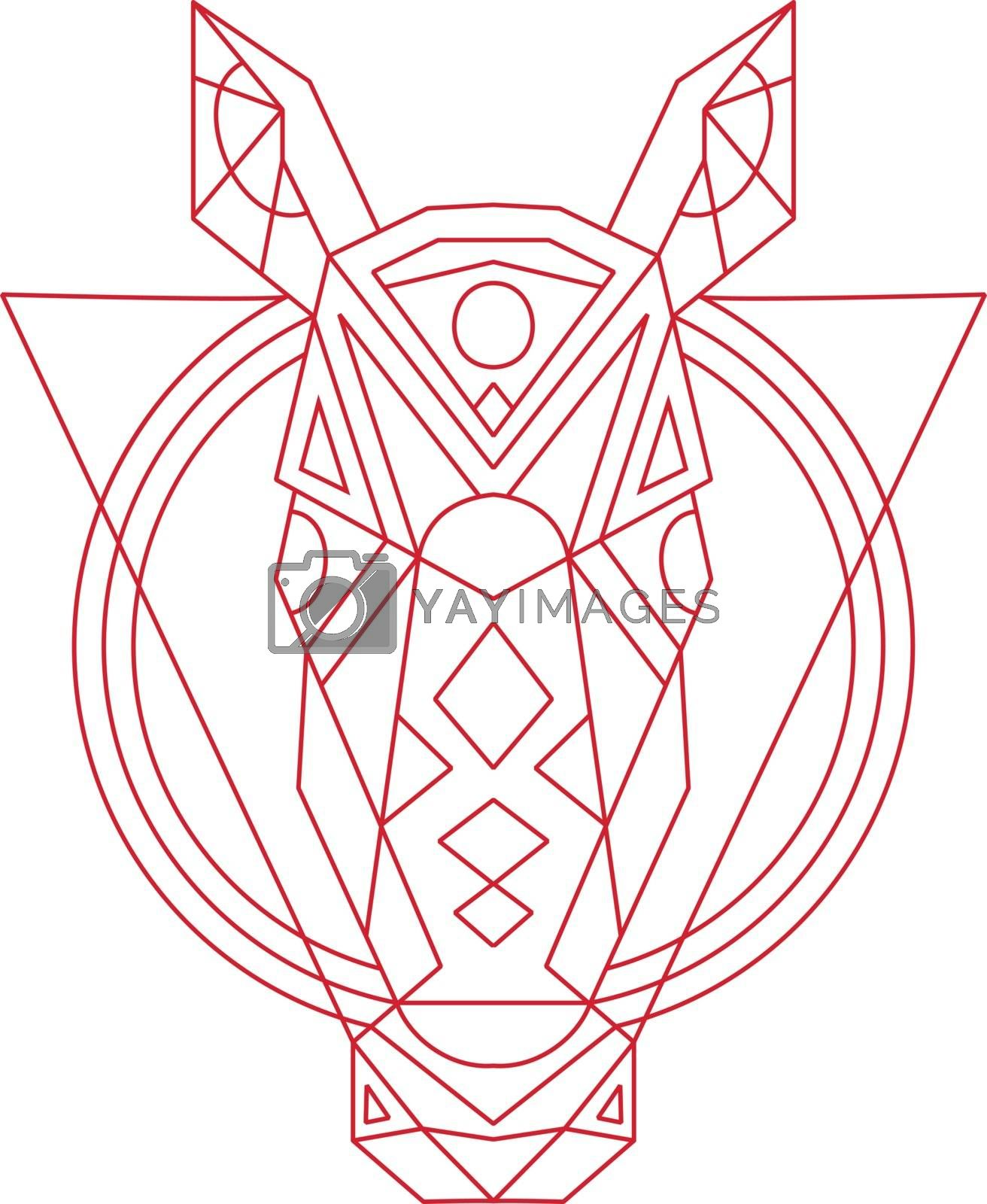 Geometric Horse Head Line Drawing Royalty Free Stock Image Stock Photos Royalty Free Images Vectors Footage Yayimages