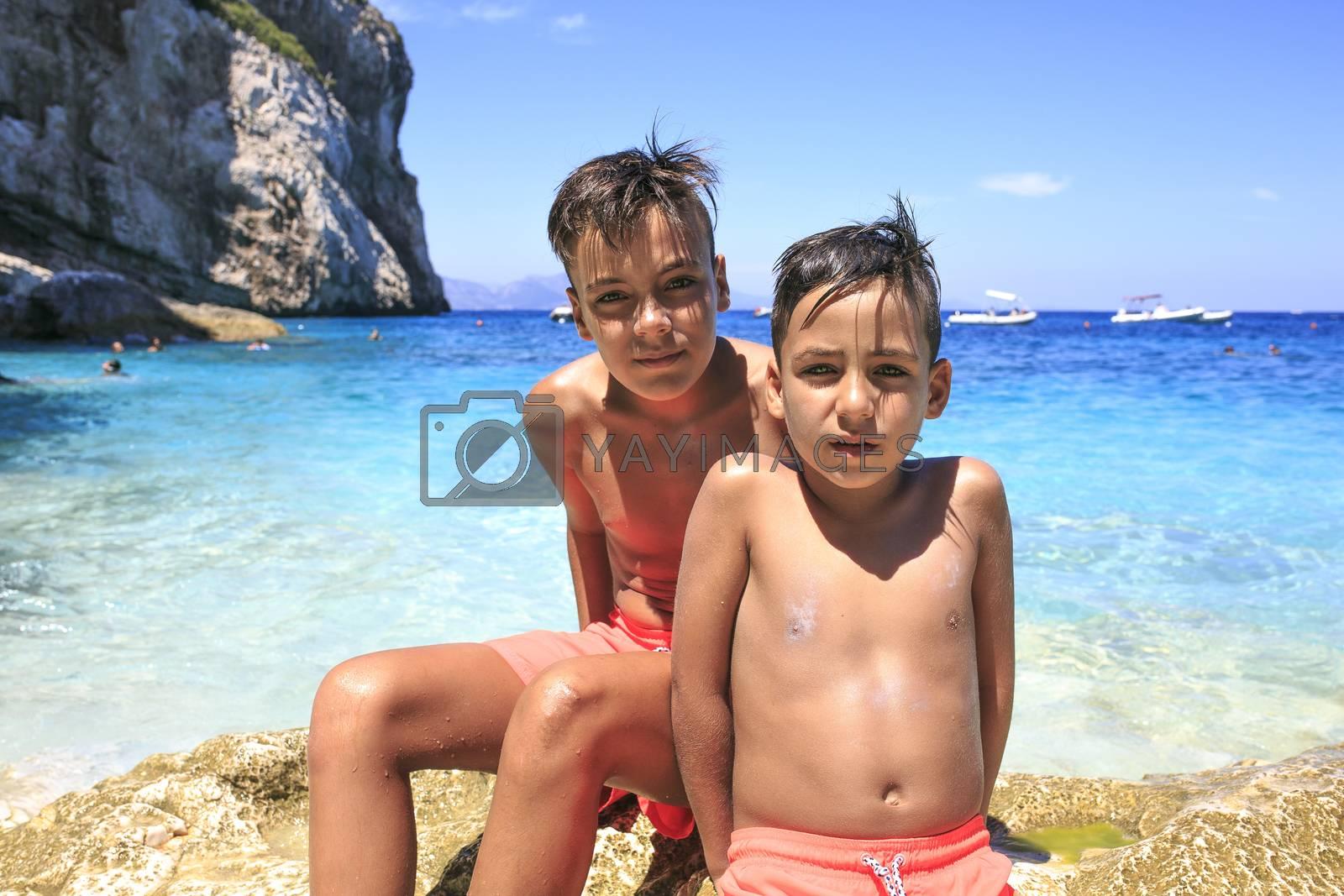 green eyes boys on the beach