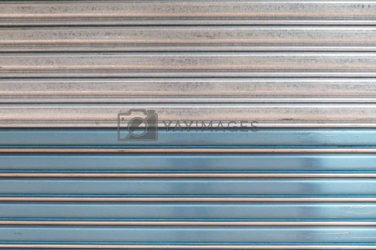 Silver and Blue Steel Metal Background