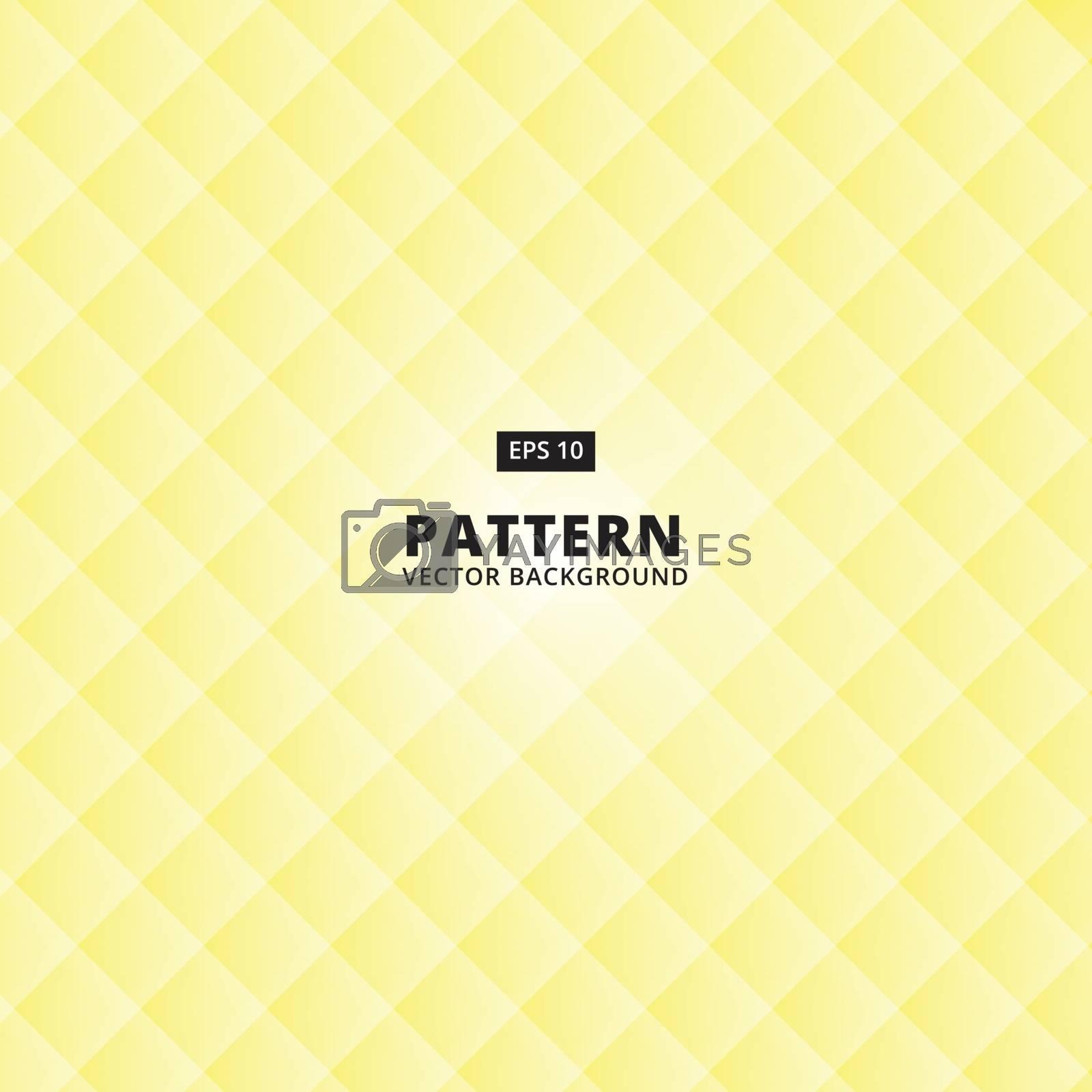 Yellow bright pixel geometric grid pattern background, vector Illustration