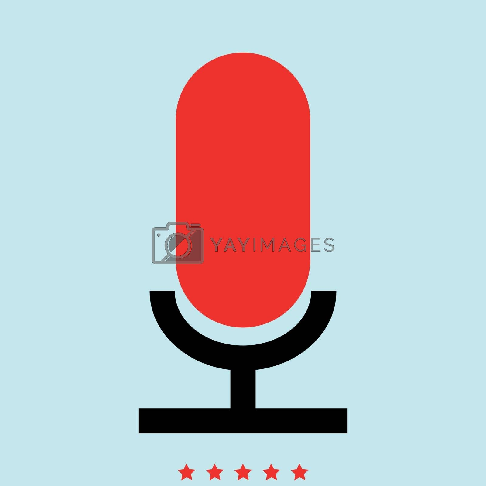 Microphone it is color icon . Simple style .