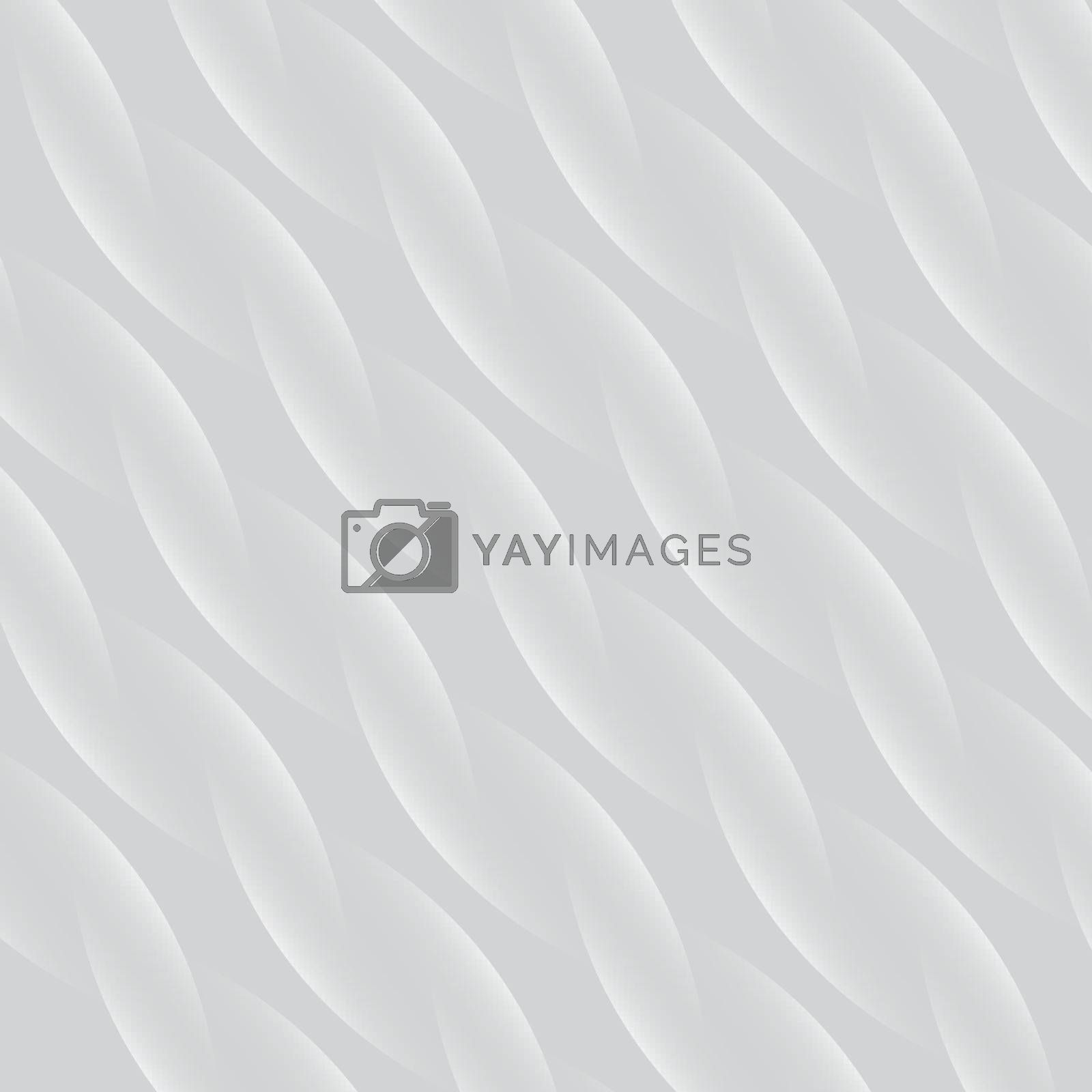 Abstract spiral pattern white and gray vector background, close up fabric fiber