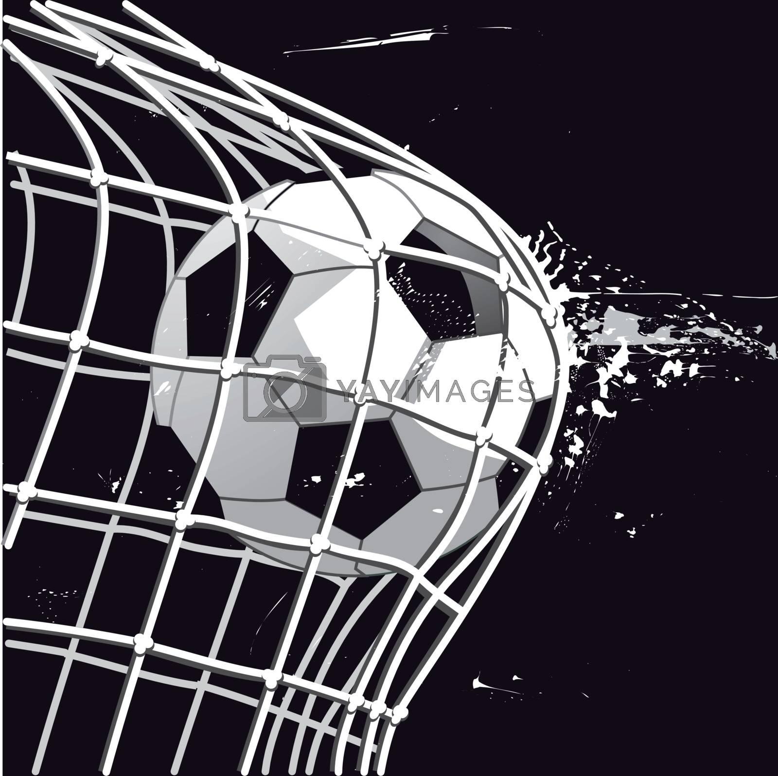 Football goal, goal shot, illustration