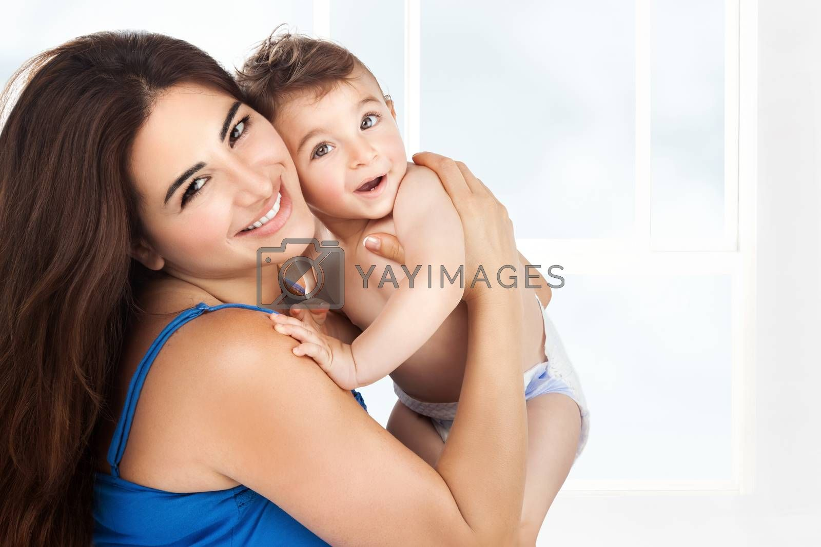 Cheerful mother with little son by Anna_Omelchenko