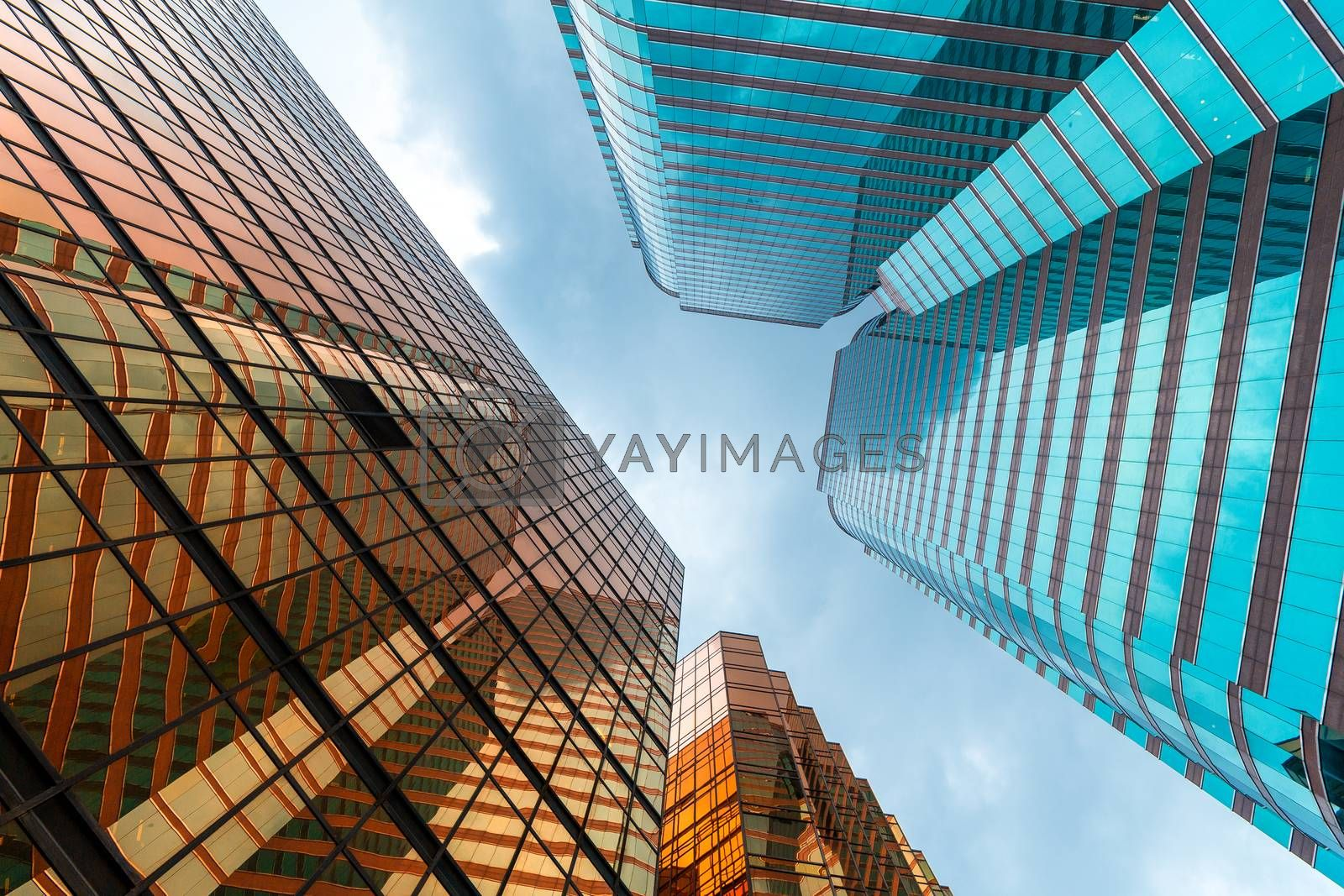 Royalty free image of Business tower to the sky by leungchopan