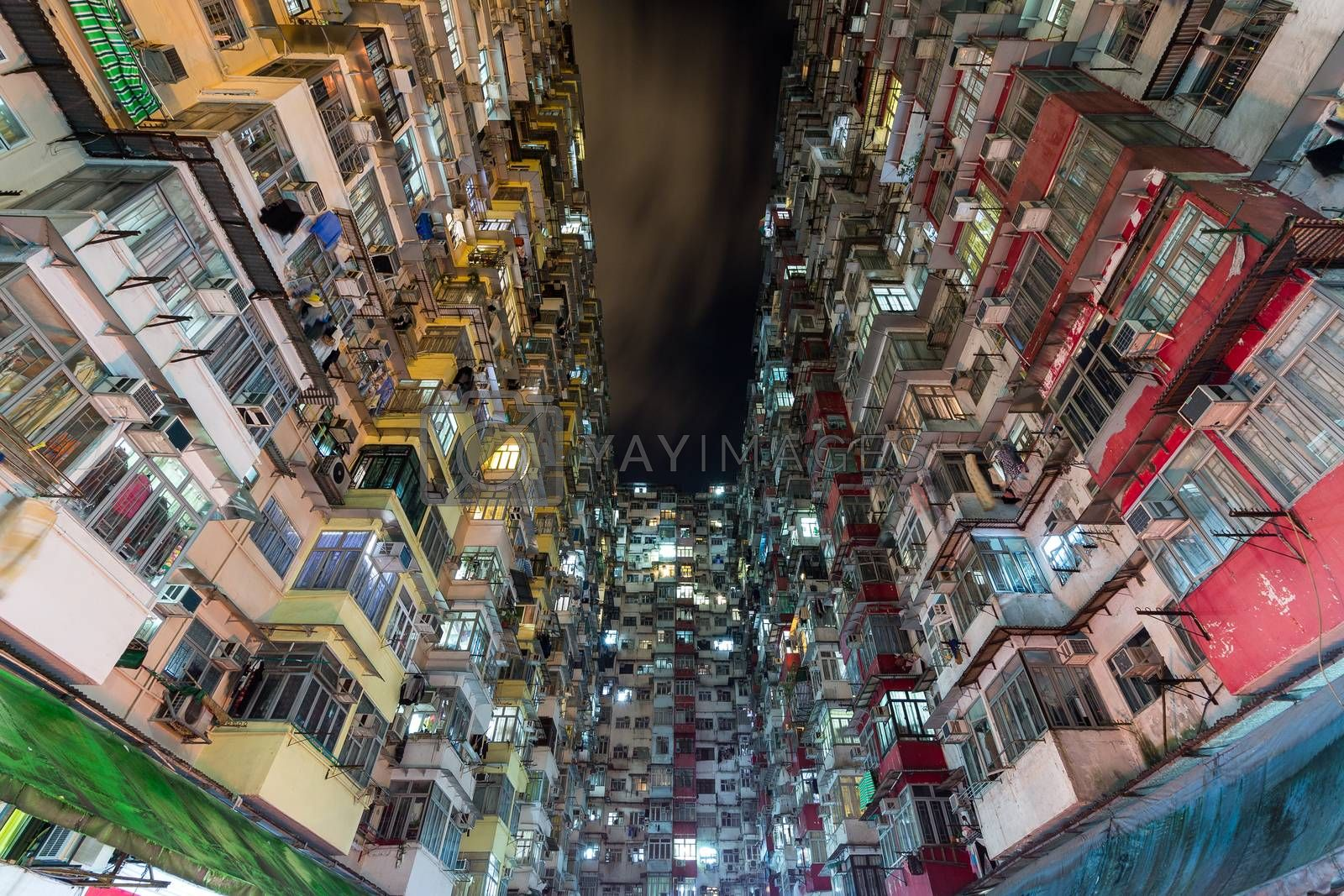Royalty free image of Building in Hong Kong at night by leungchopan