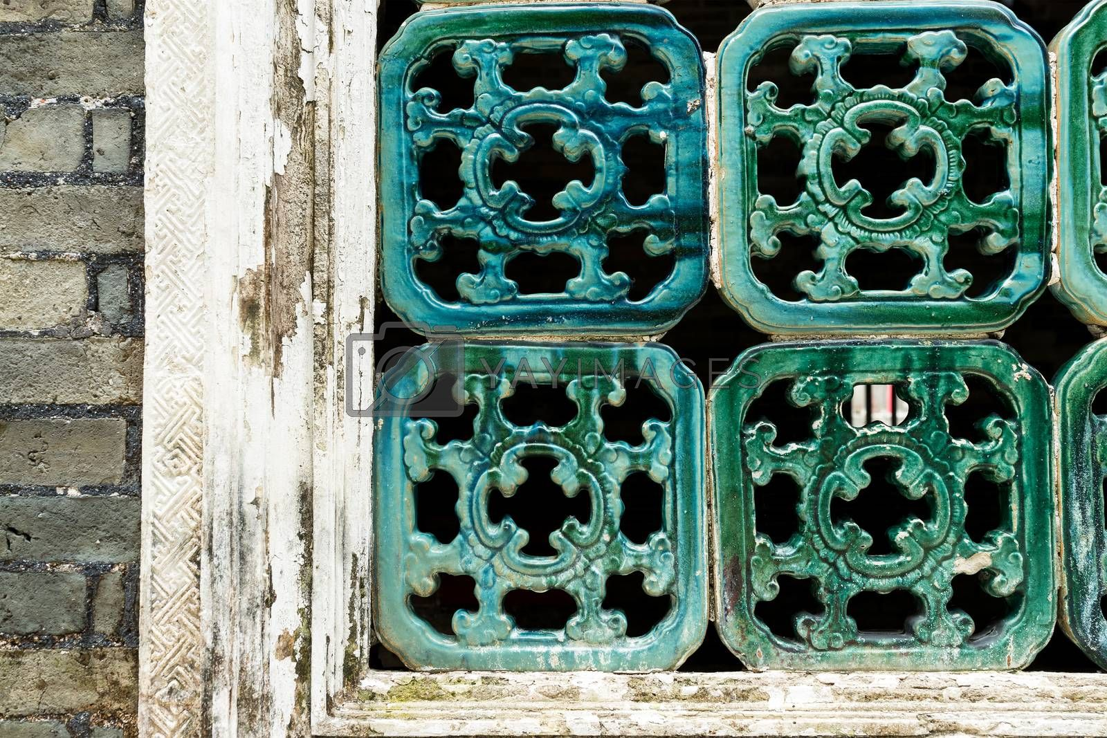 Traditional Chinese window pattern
