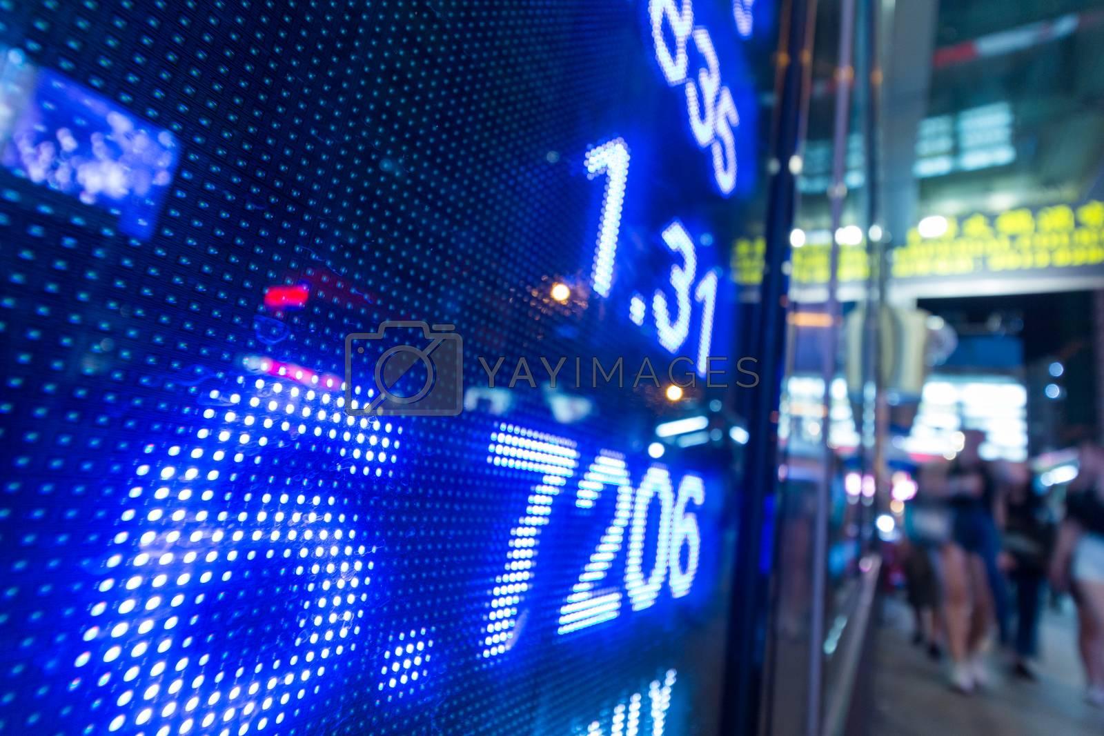 Royalty free image of Stock market price display by leungchopan