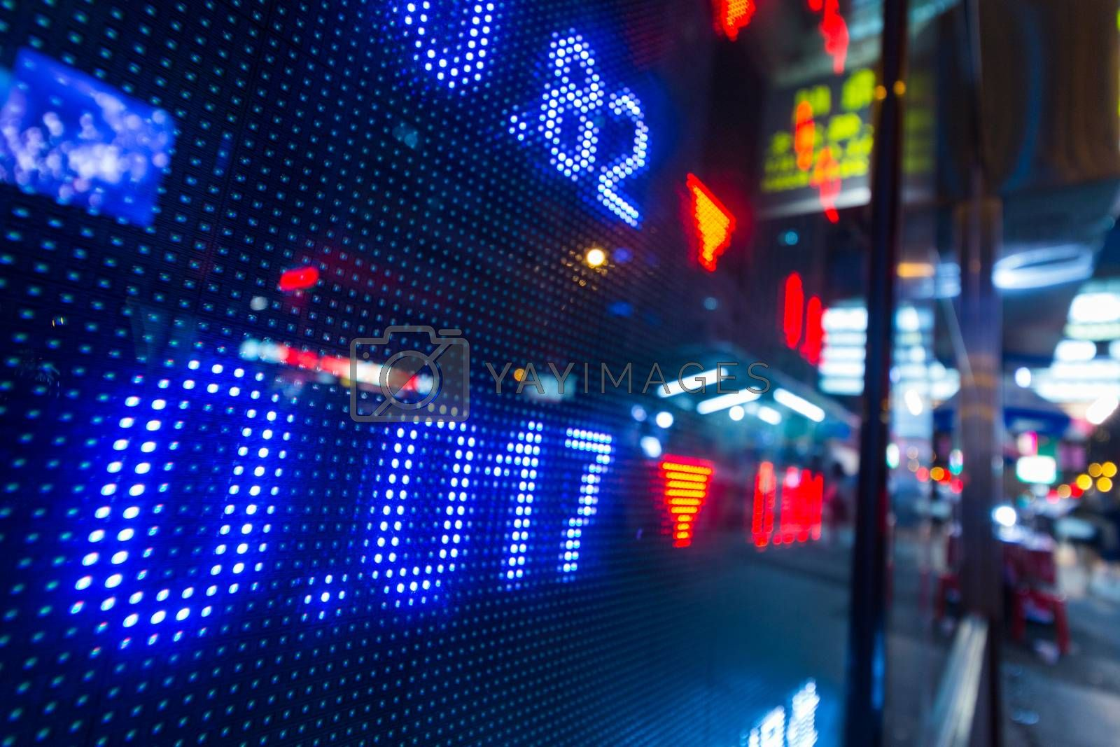 Royalty free image of Stock market display in the street by leungchopan