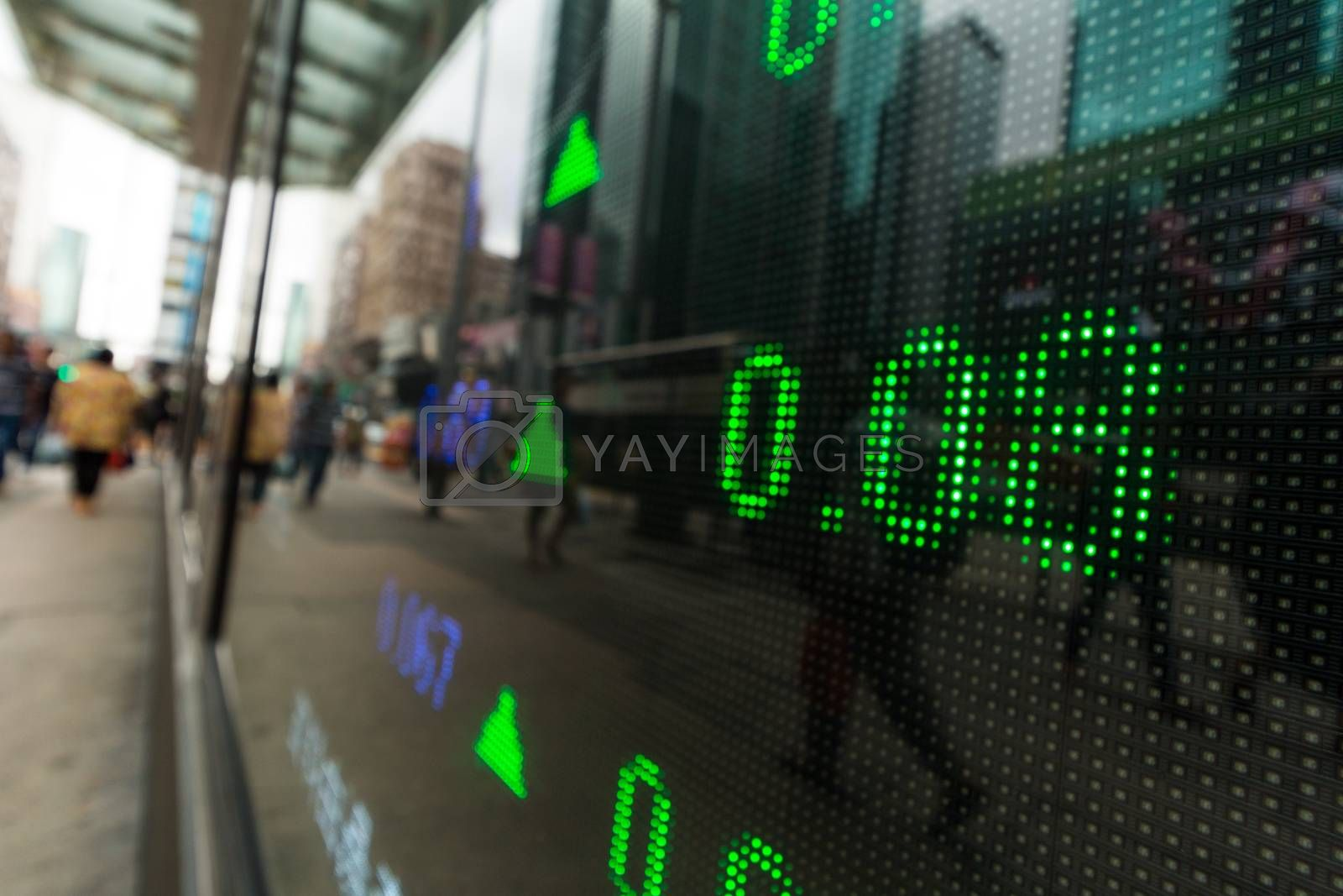 Royalty free image of Display stock market numbers  by leungchopan