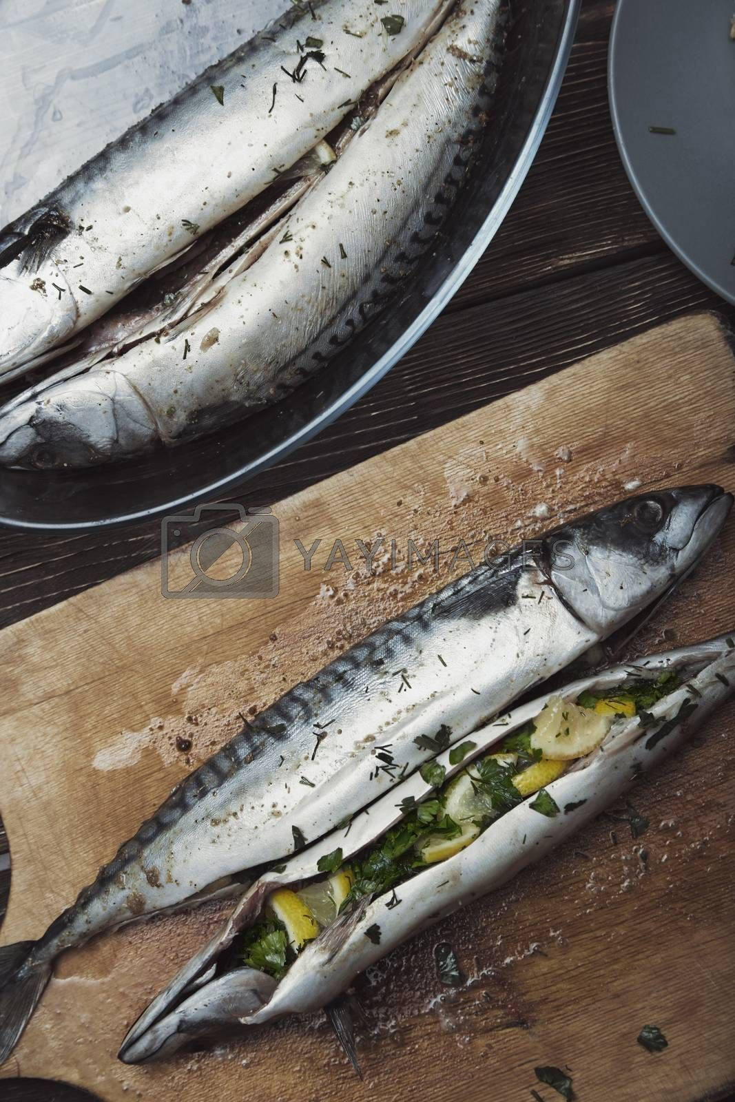 Fish food preparation by Novic