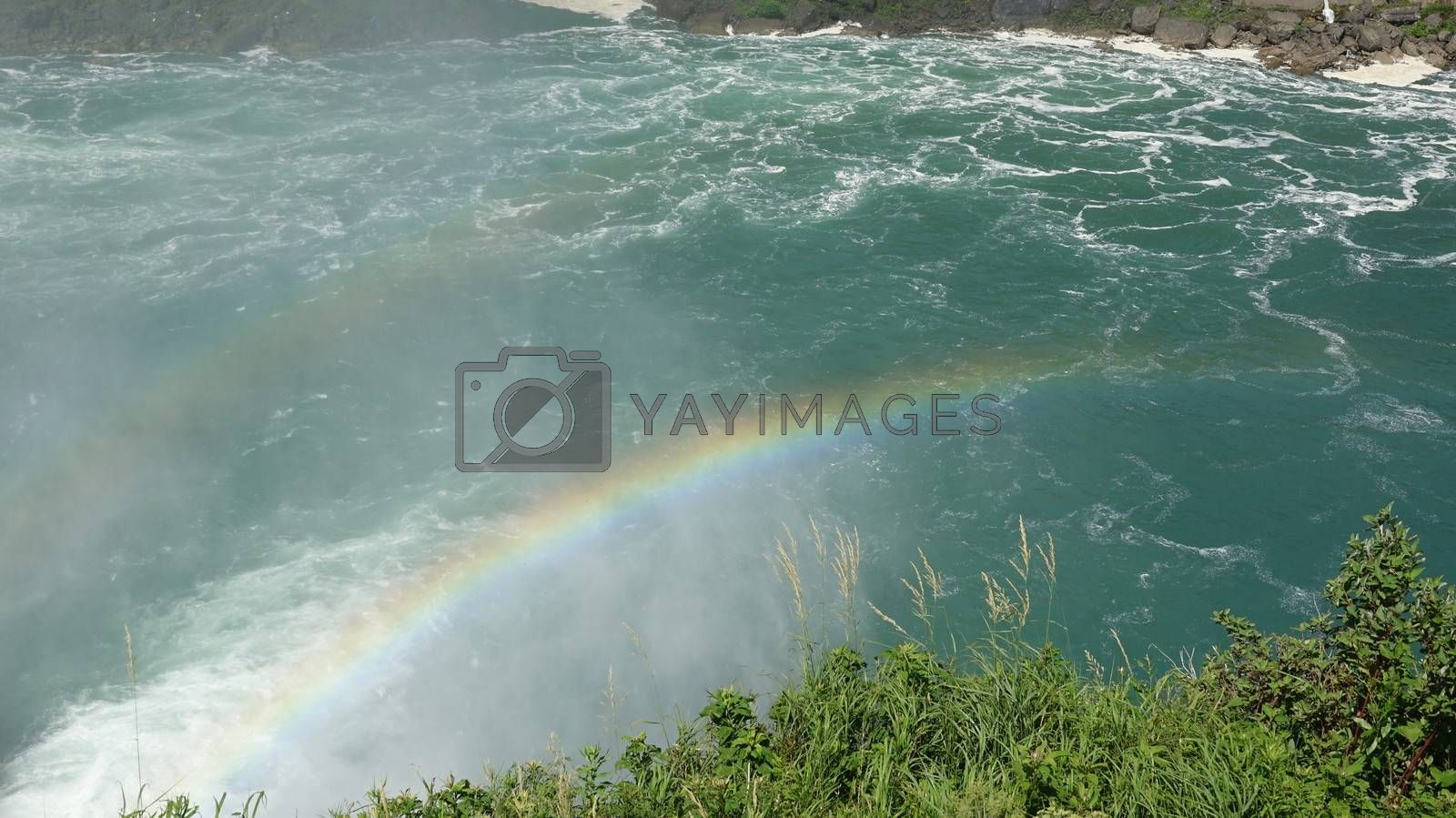 Rainbow And River Water