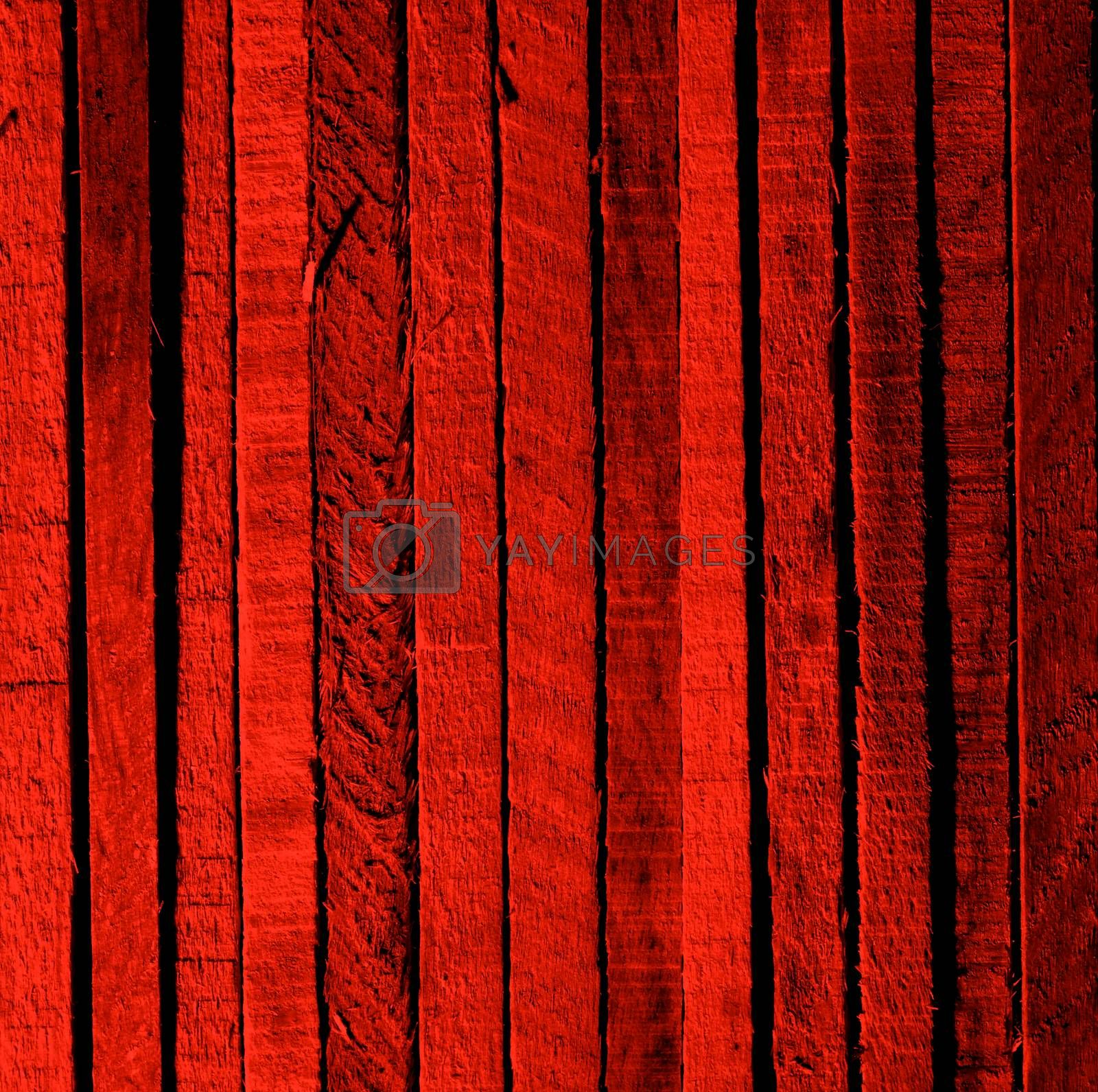 Dark Red Background of Cracked Wooden Plank closeup